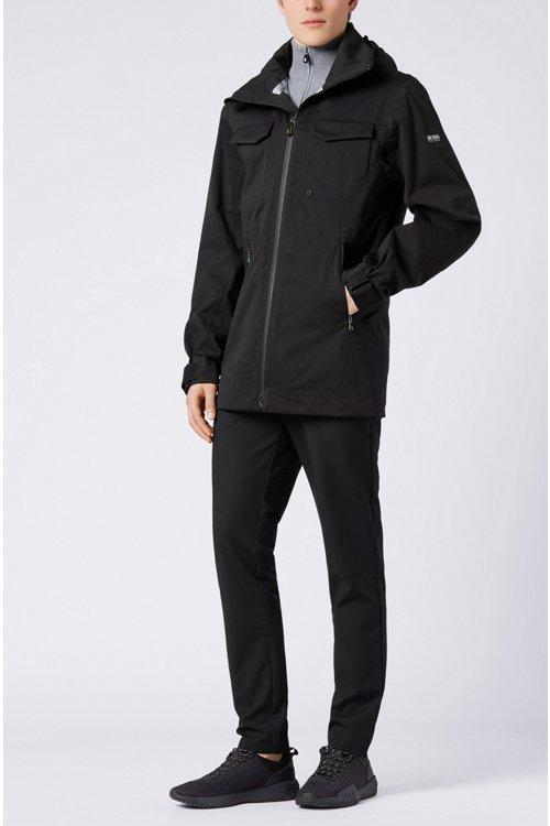 Hugo Boss - Waterproof softshell jacket with stowaway hood - 2