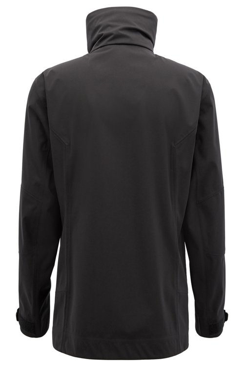 Hugo Boss - Waterproof softshell jacket with stowaway hood - 3