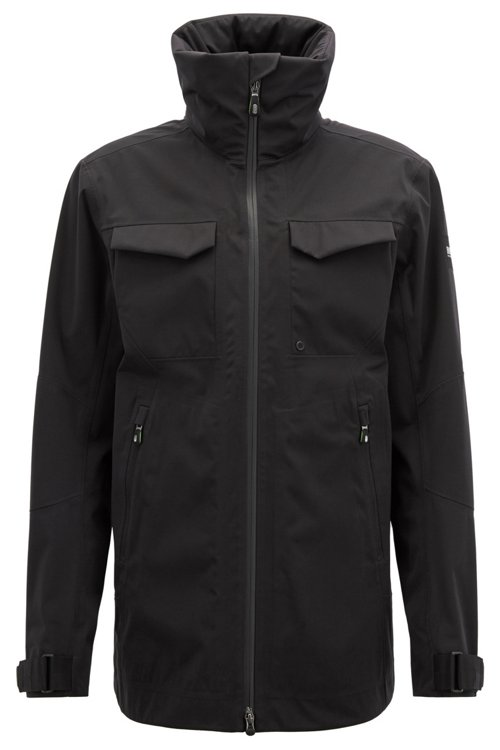 Hugo Boss - Waterproof softshell jacket with stowaway hood - 1