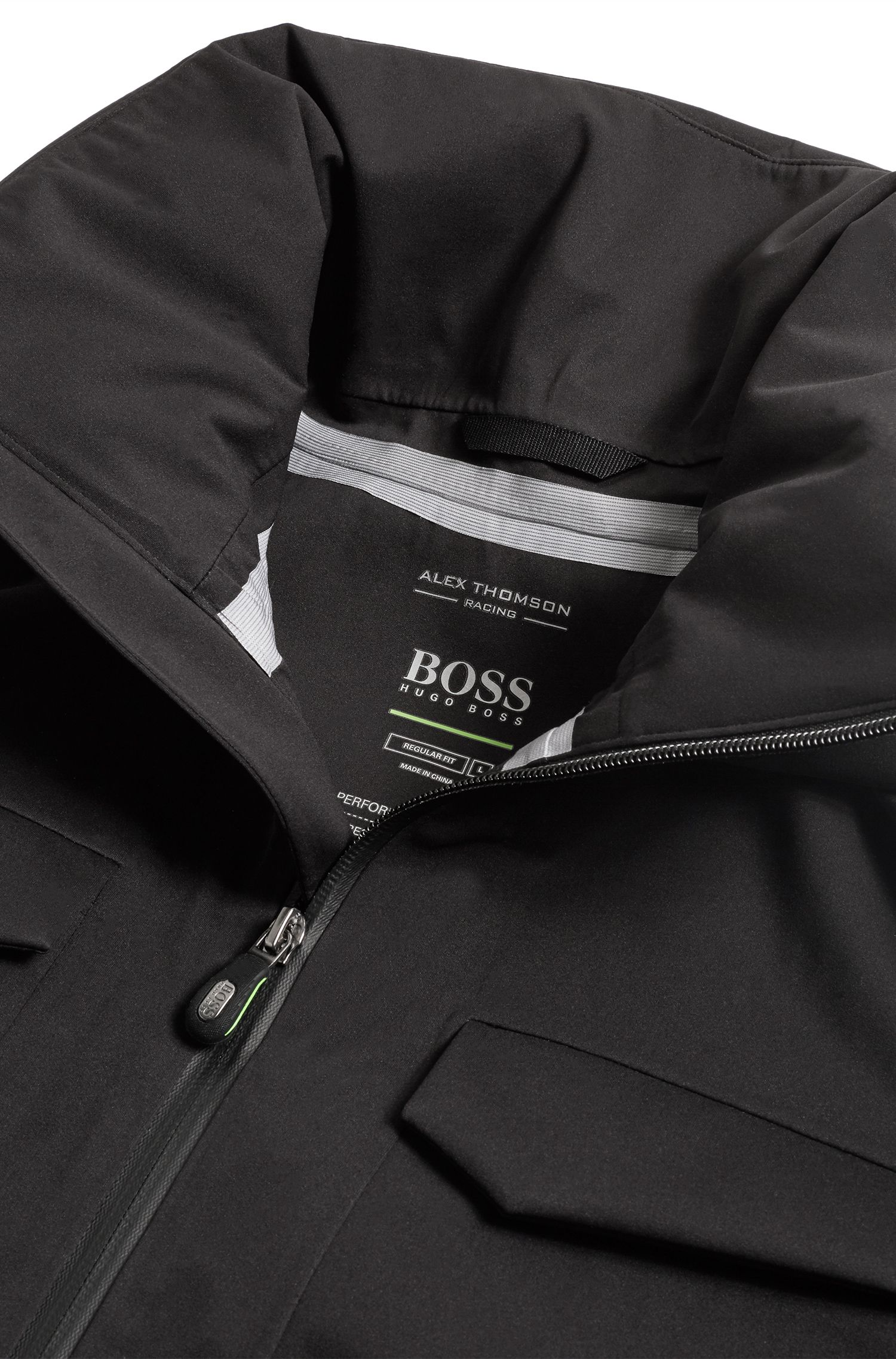 Hugo Boss - Waterproof softshell jacket with stowaway hood - 6