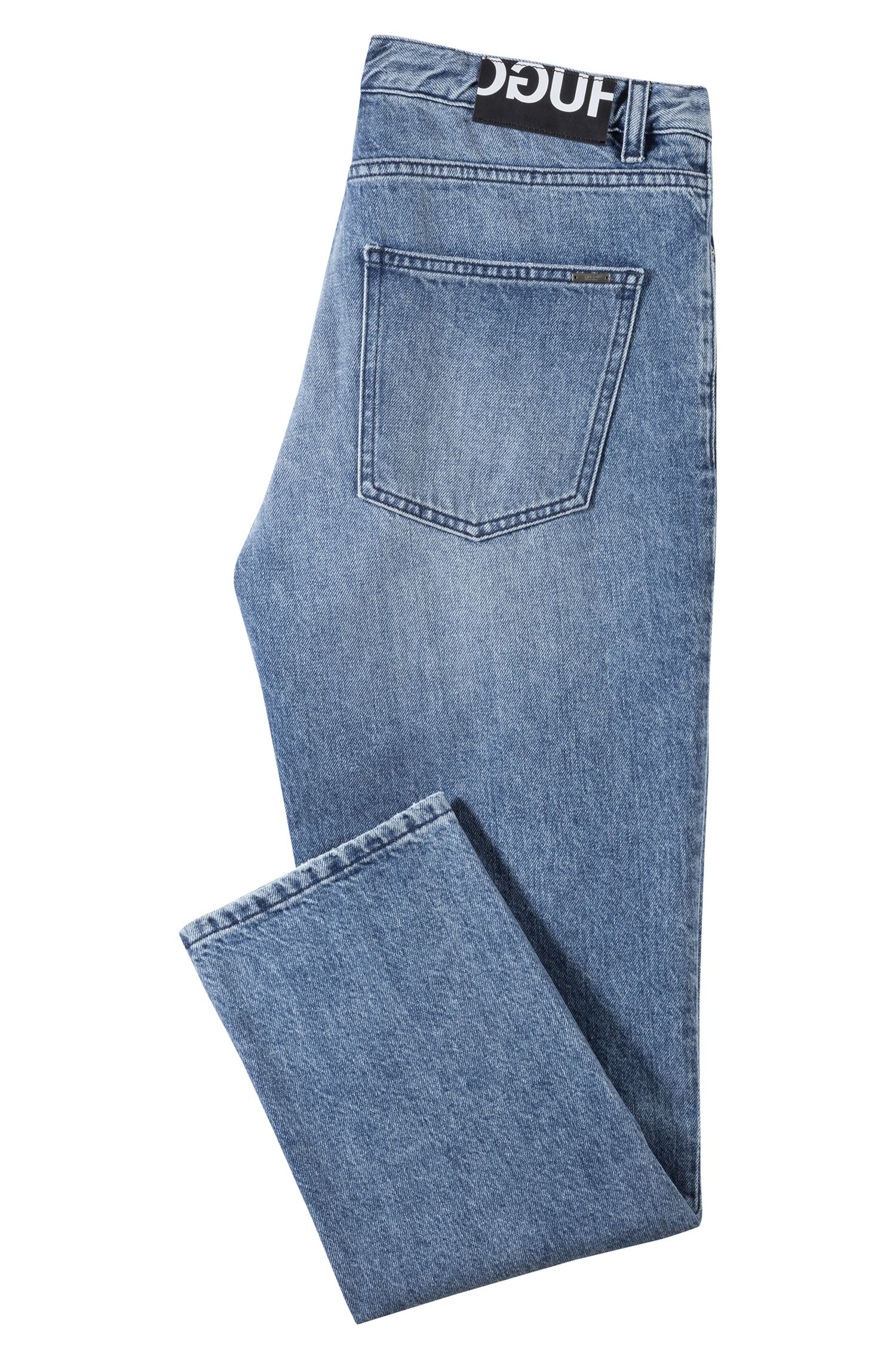 Jean Regular Fit mixte en denim italien bleu clair