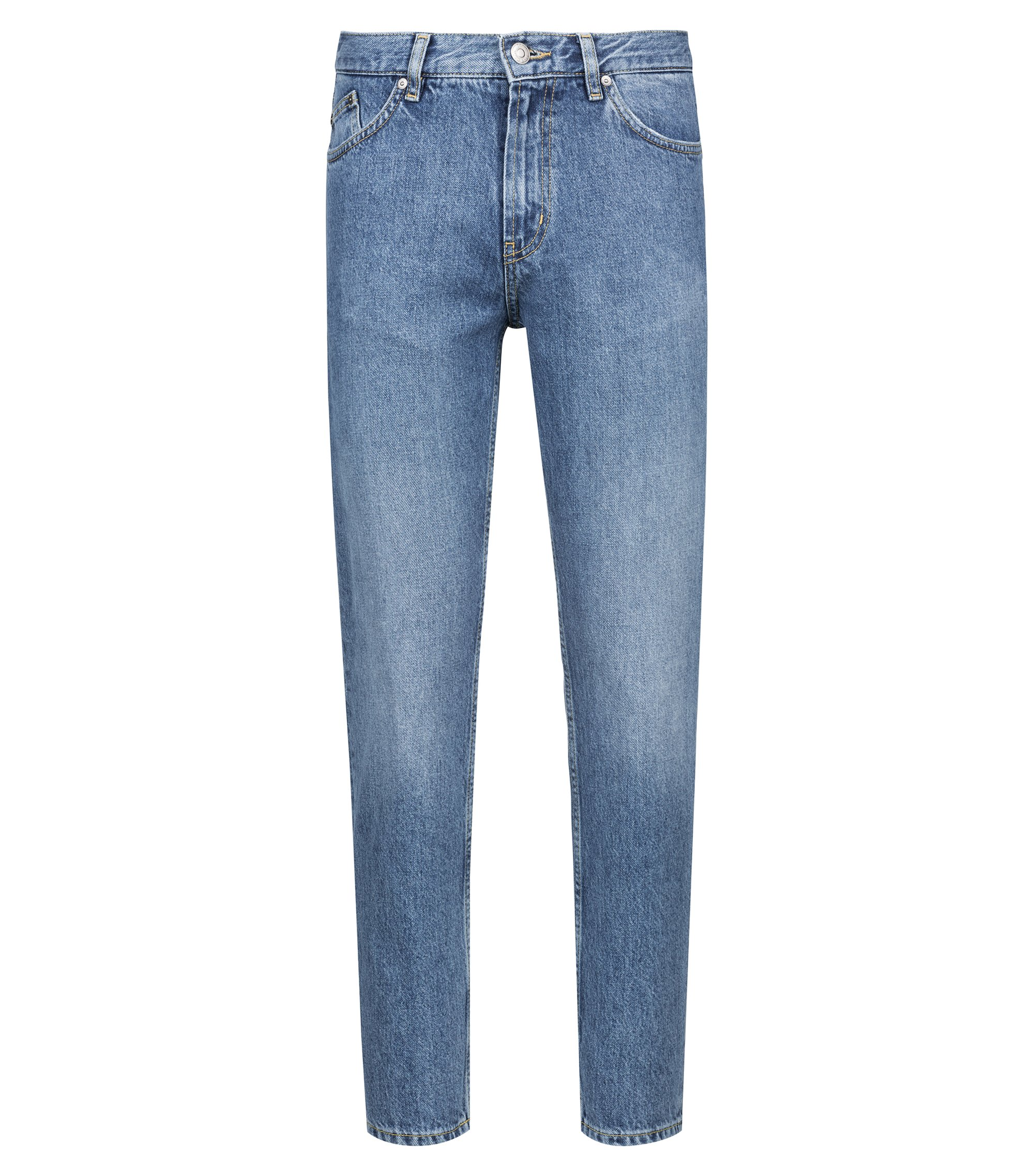Tapered-fit jeans in Italian denim, Light Blue