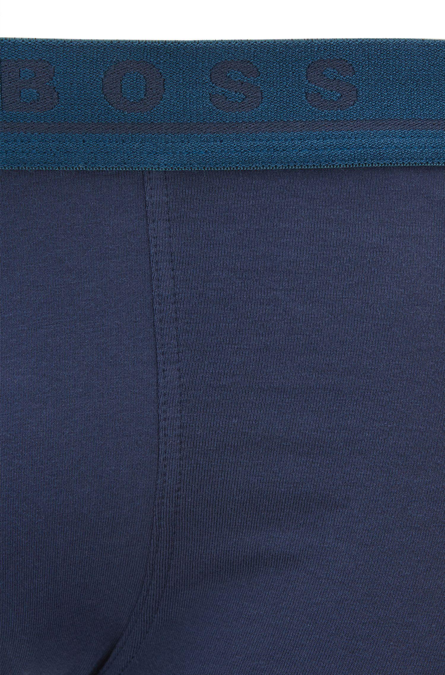 Boxershorts aus Stretch-Baumwolle im Dreier-Pack, Gemustert