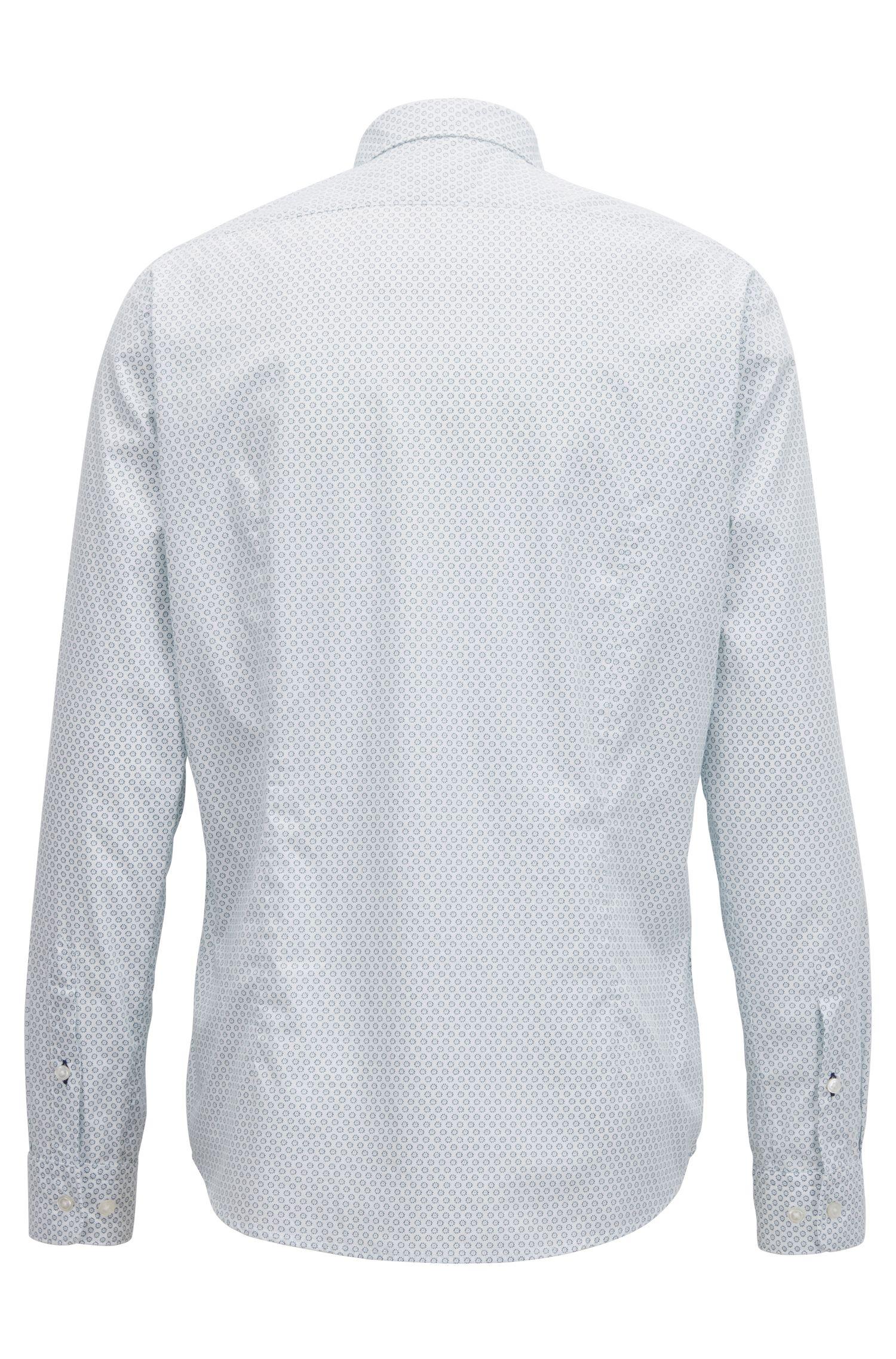 Chemise Regular Fit en coton imprimé lavé