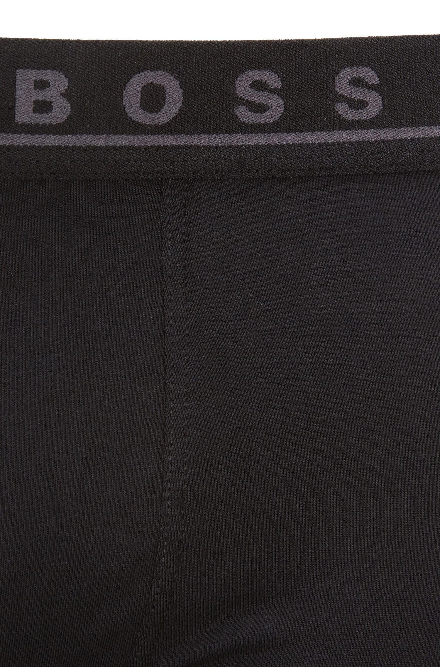 Lot de trois boxers longs en coton stretch, Fantaisie