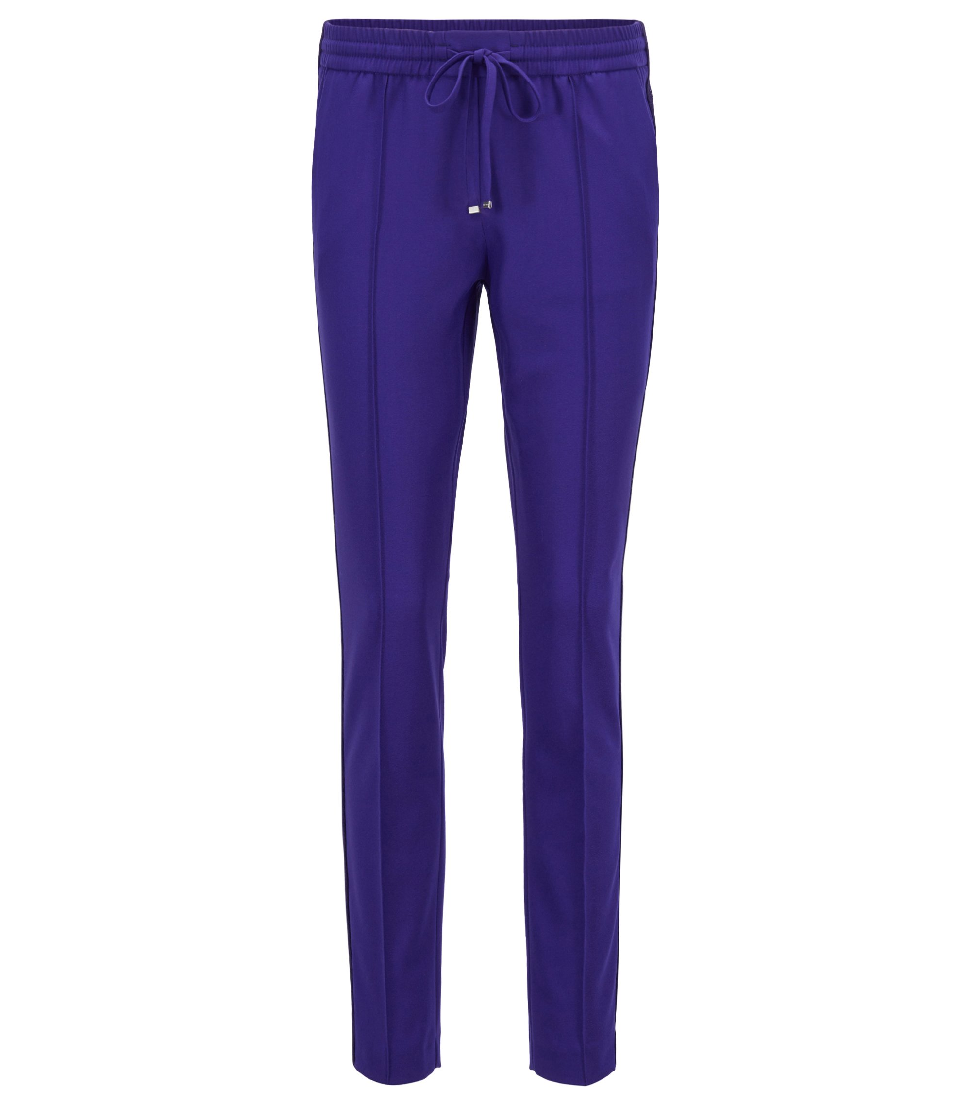 Relaxed-Fit Hose aus Stretch-Gewebe in Cropped-Länge, Flieder