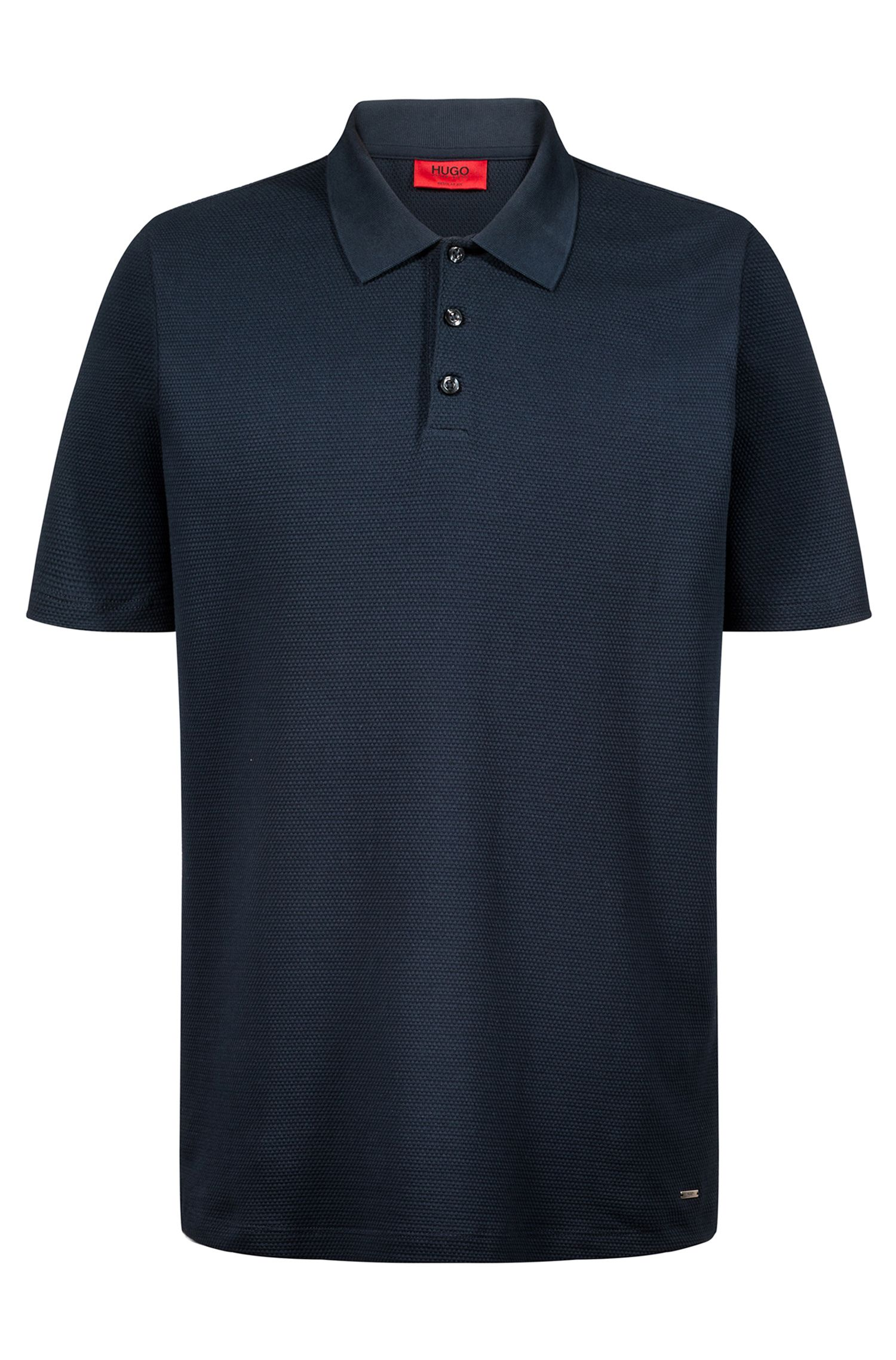 Polo Regular Fit en maille de coton jacquard