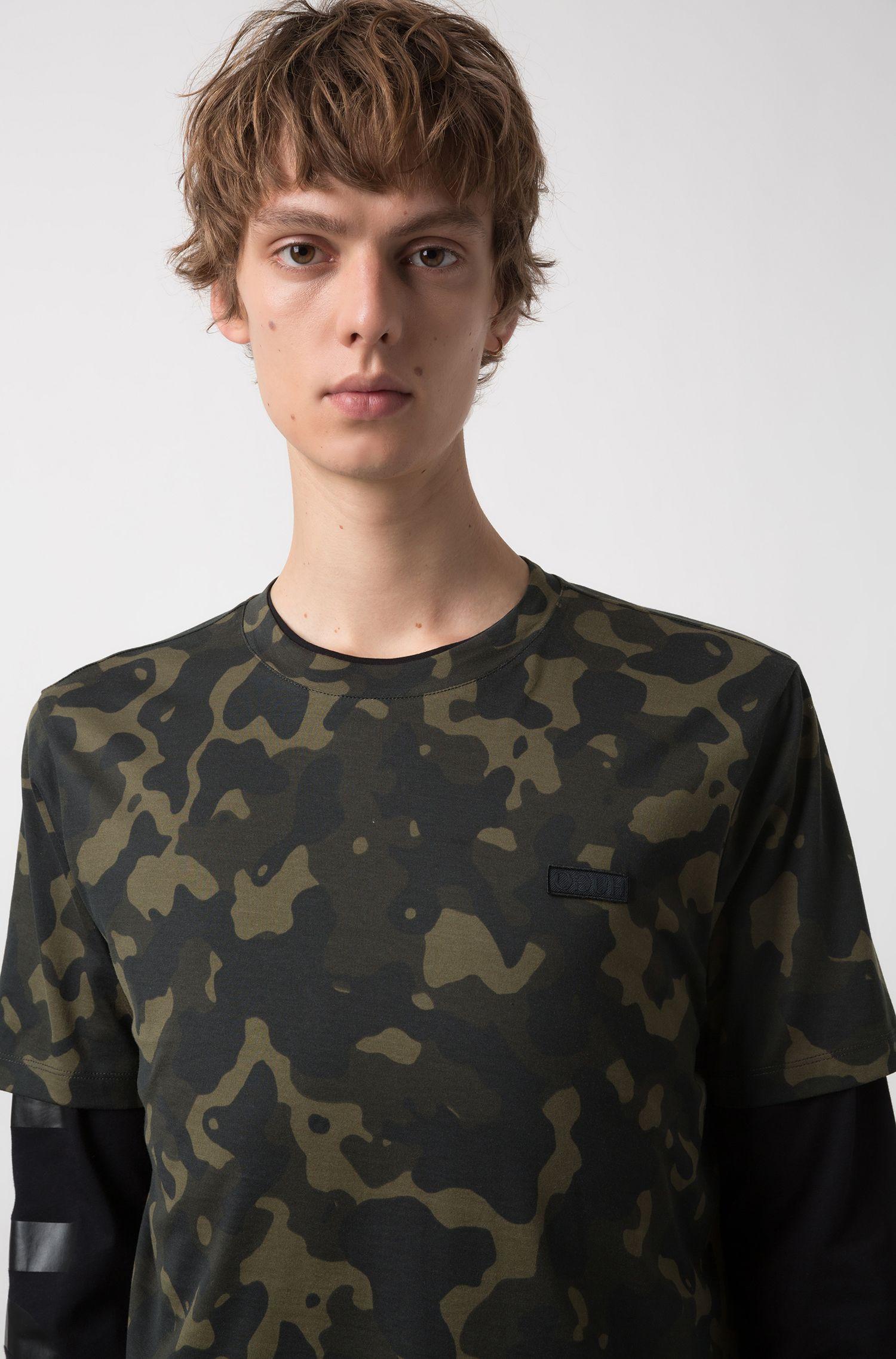 T-shirt Relaxed Fit en pur coton à imprimé camouflage, Fantaisie