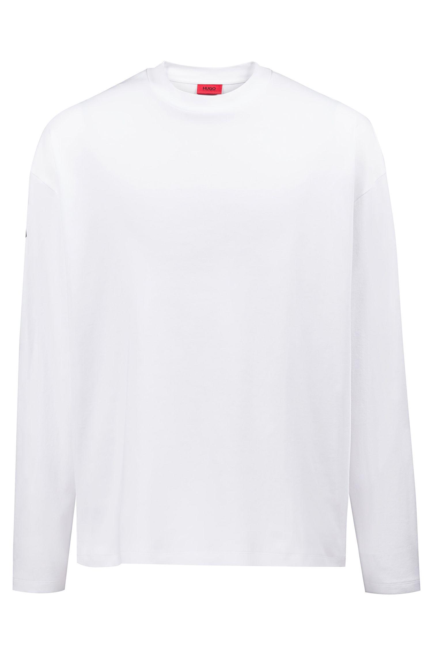 T-shirt Oversized Fit en coton avec coordonnées imprimées, Blanc