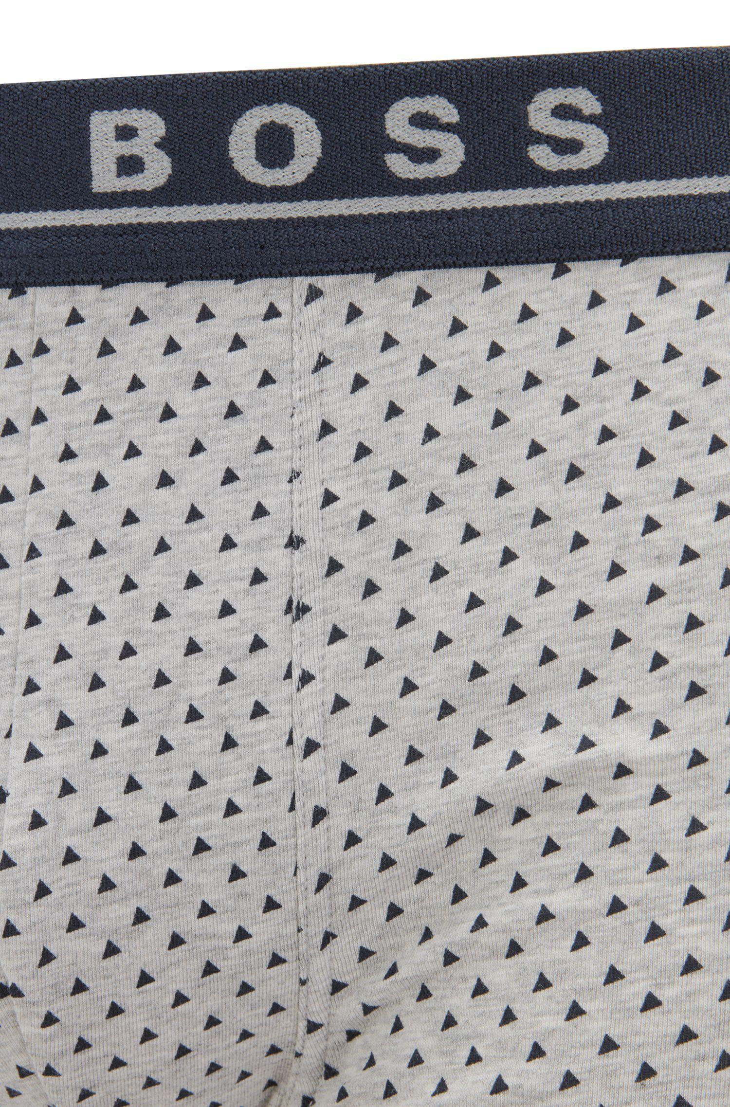 Dreier-Pack Boxershorts aus Stretch-Baumwolle mit Logo am Bund, Gemustert