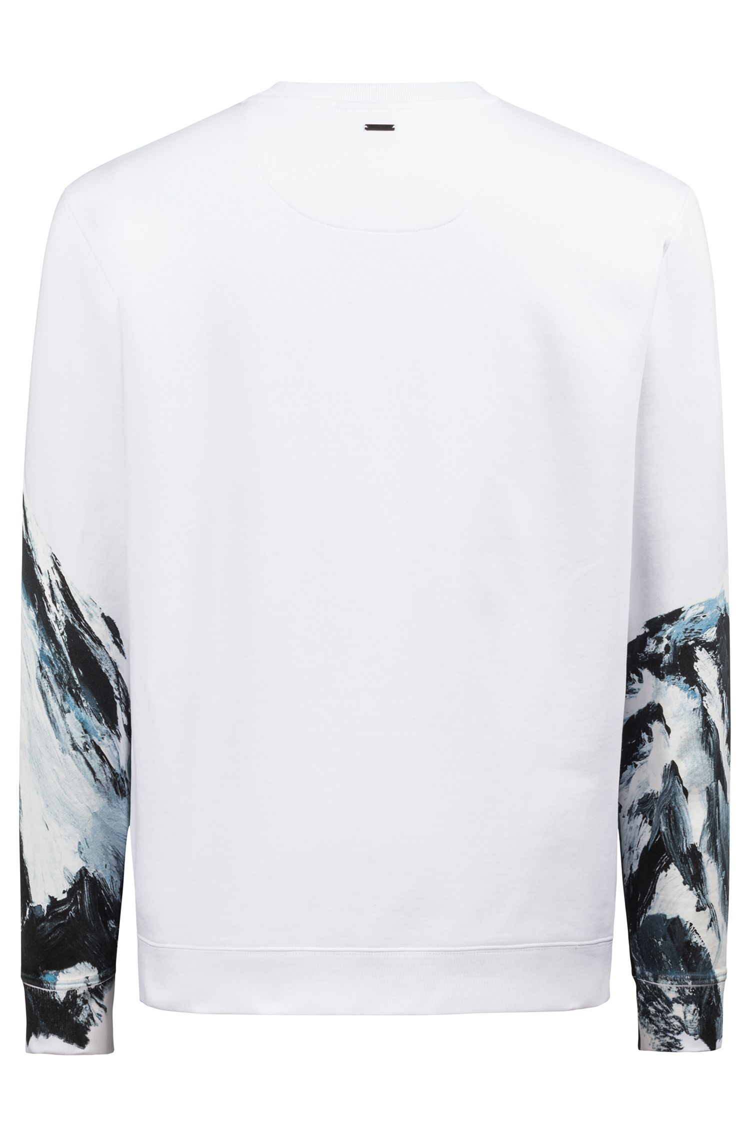 Sweat Oversized Fit en coton à motif montagne graphique de saison, Fantaisie