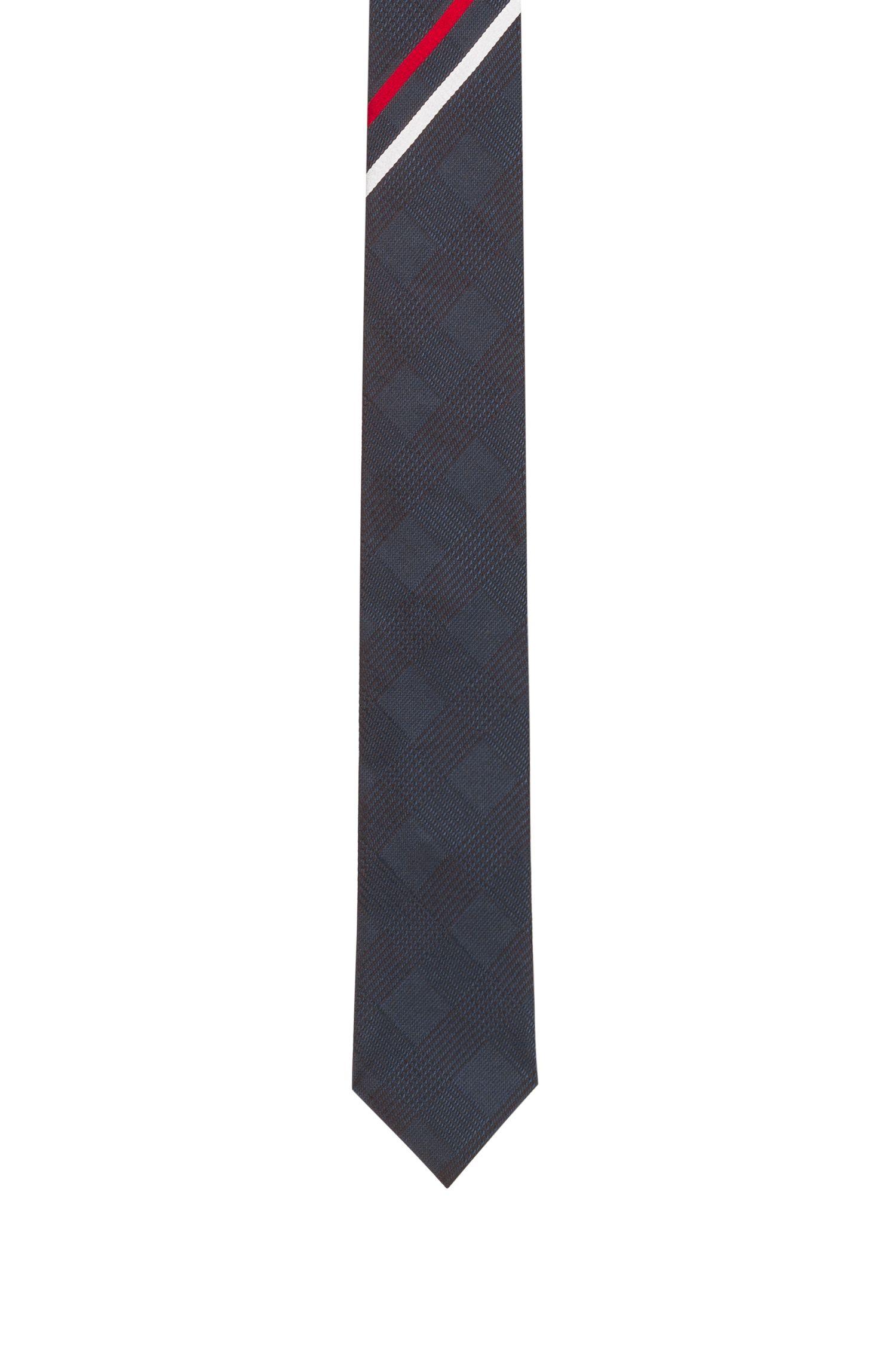 Corbata en jacquard de seda con rayas diagonales