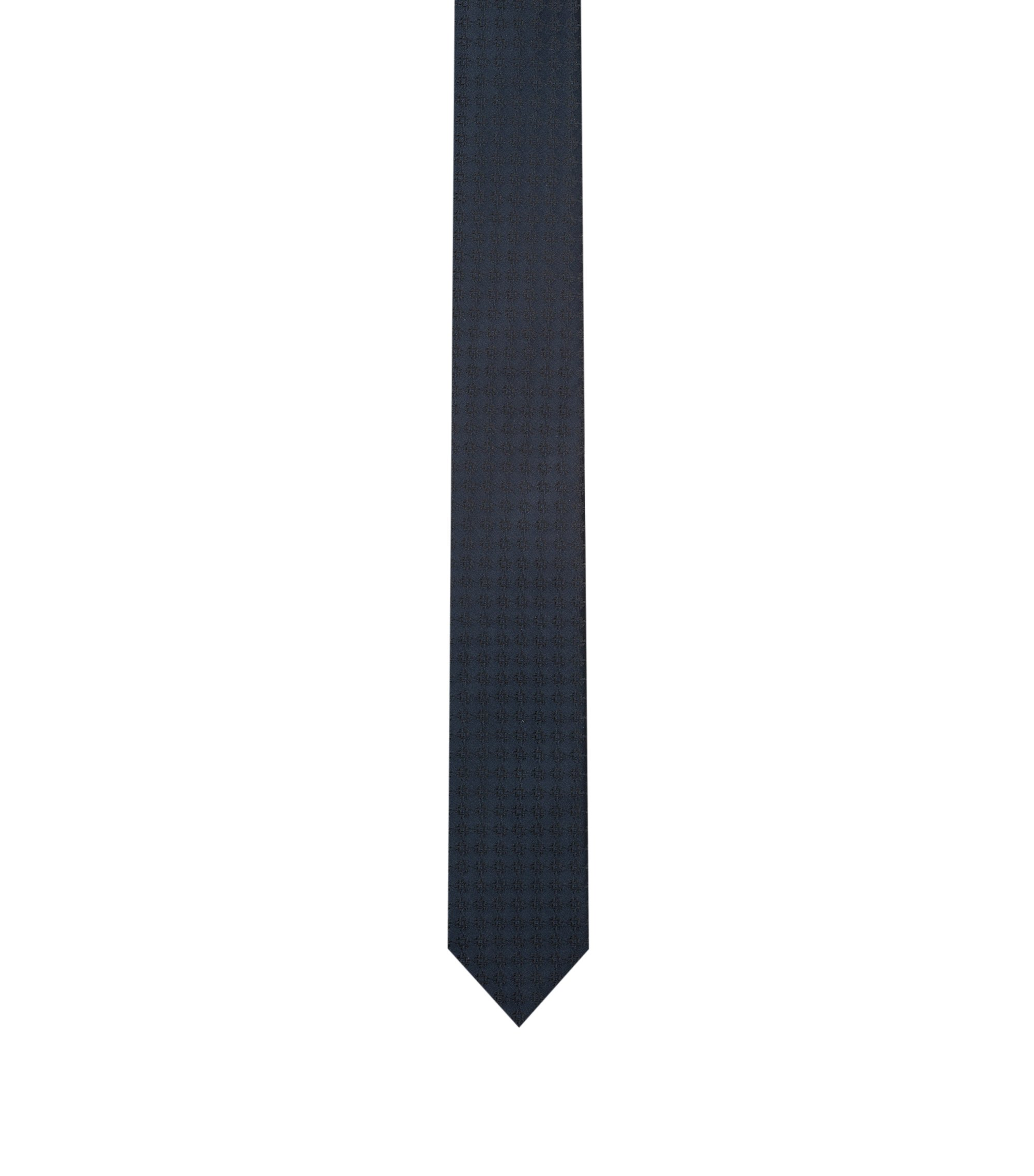 Silk-jacquard tie with textured pattern, Patterned