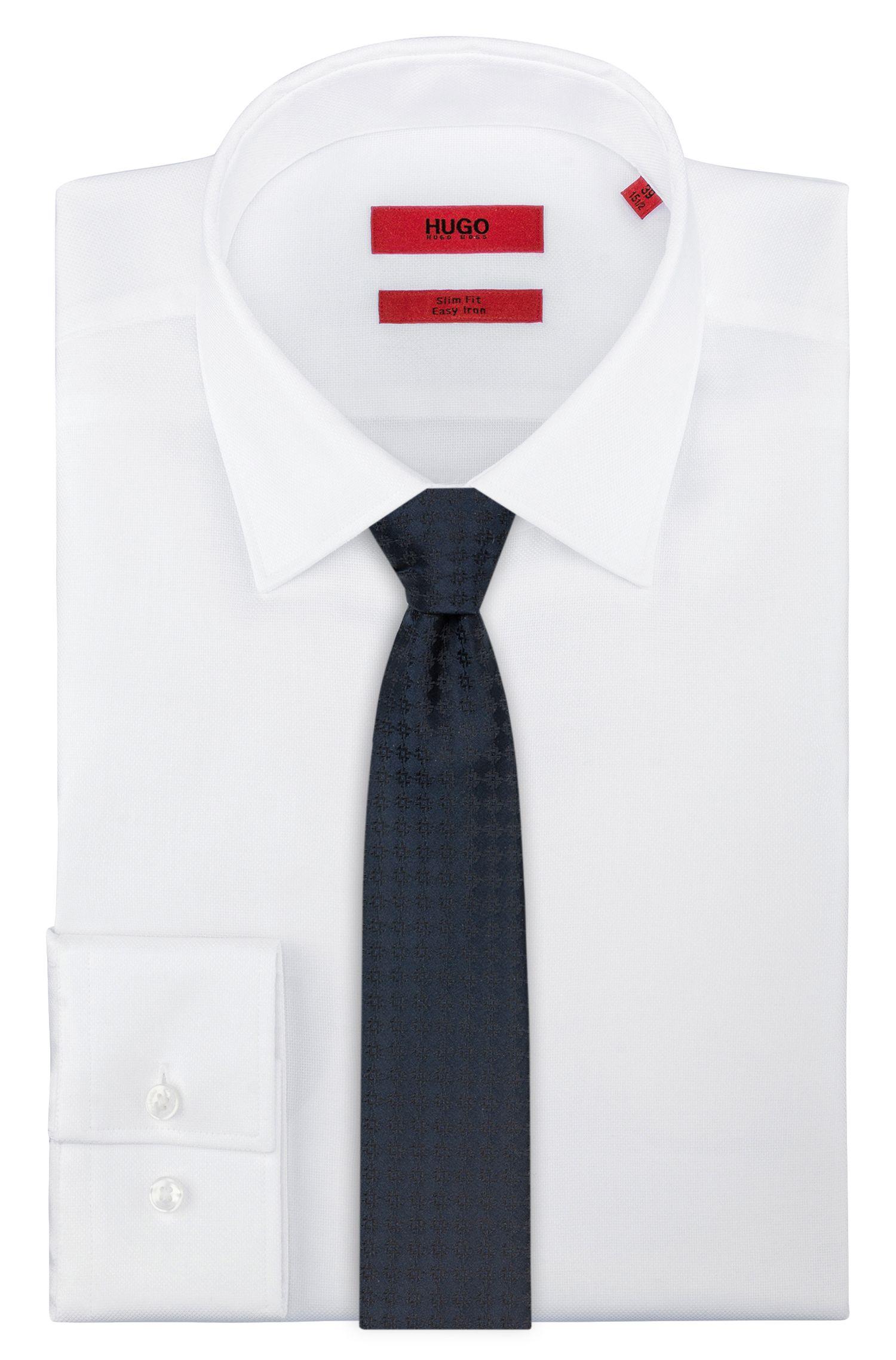 Cravate en jacquard de soie à motif texturé, Fantaisie