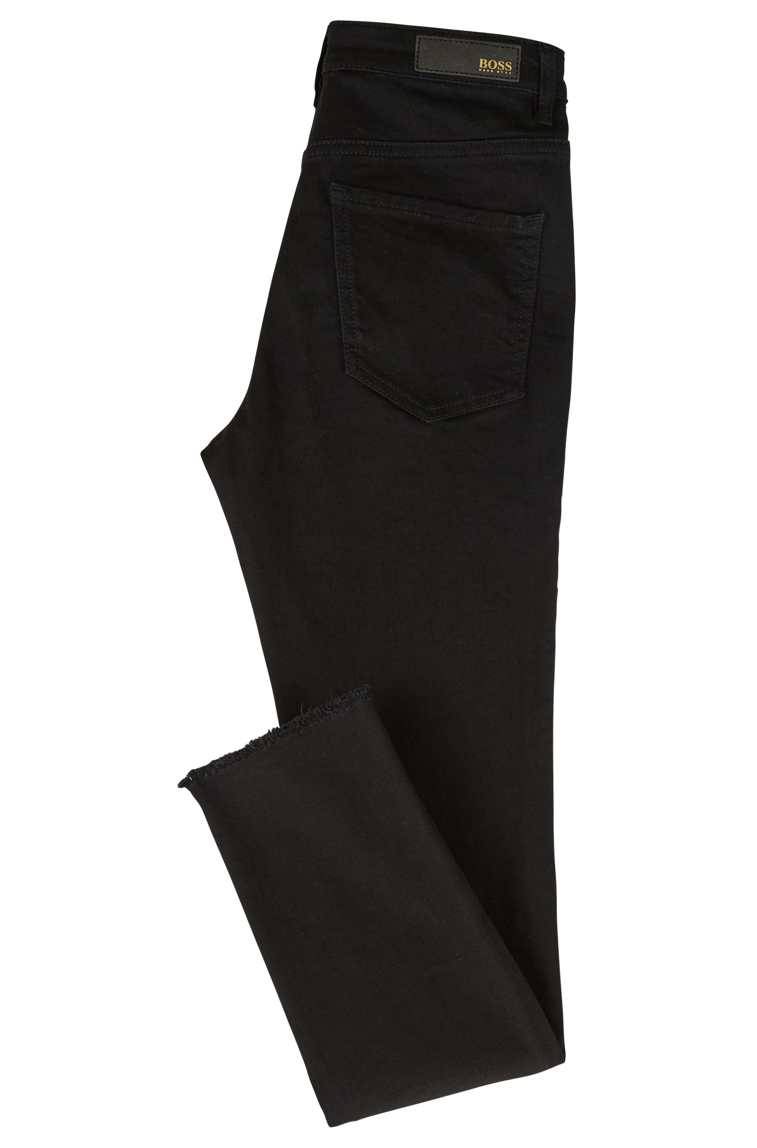 Skinny-fit cropped jeans in power-stretch denim, Dark Grey