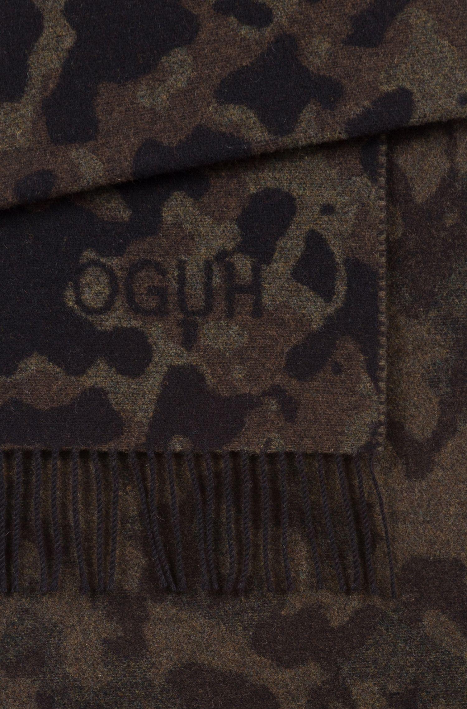 Camouflage-Schal aus gekämmtem Woll-Mix, Gemustert