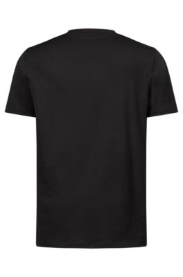 f4eed873362 HUGO - Cotton T-shirt with reverse logo