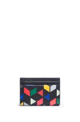 """An Eames Celebration"" Card Case aus Leder mit Print, Schwarz"