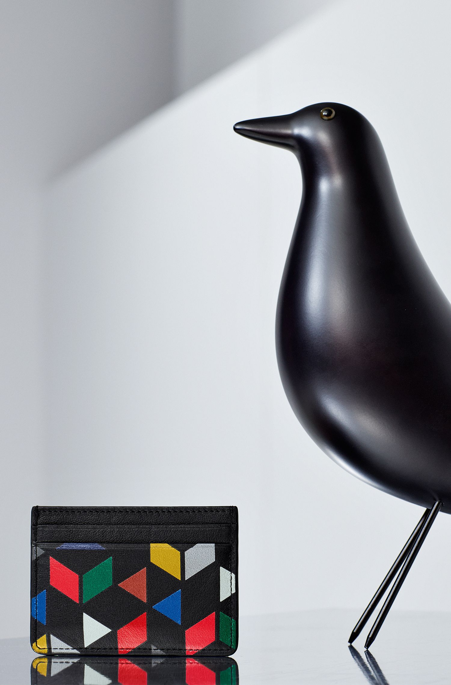 An Eames Celebration printed card holder