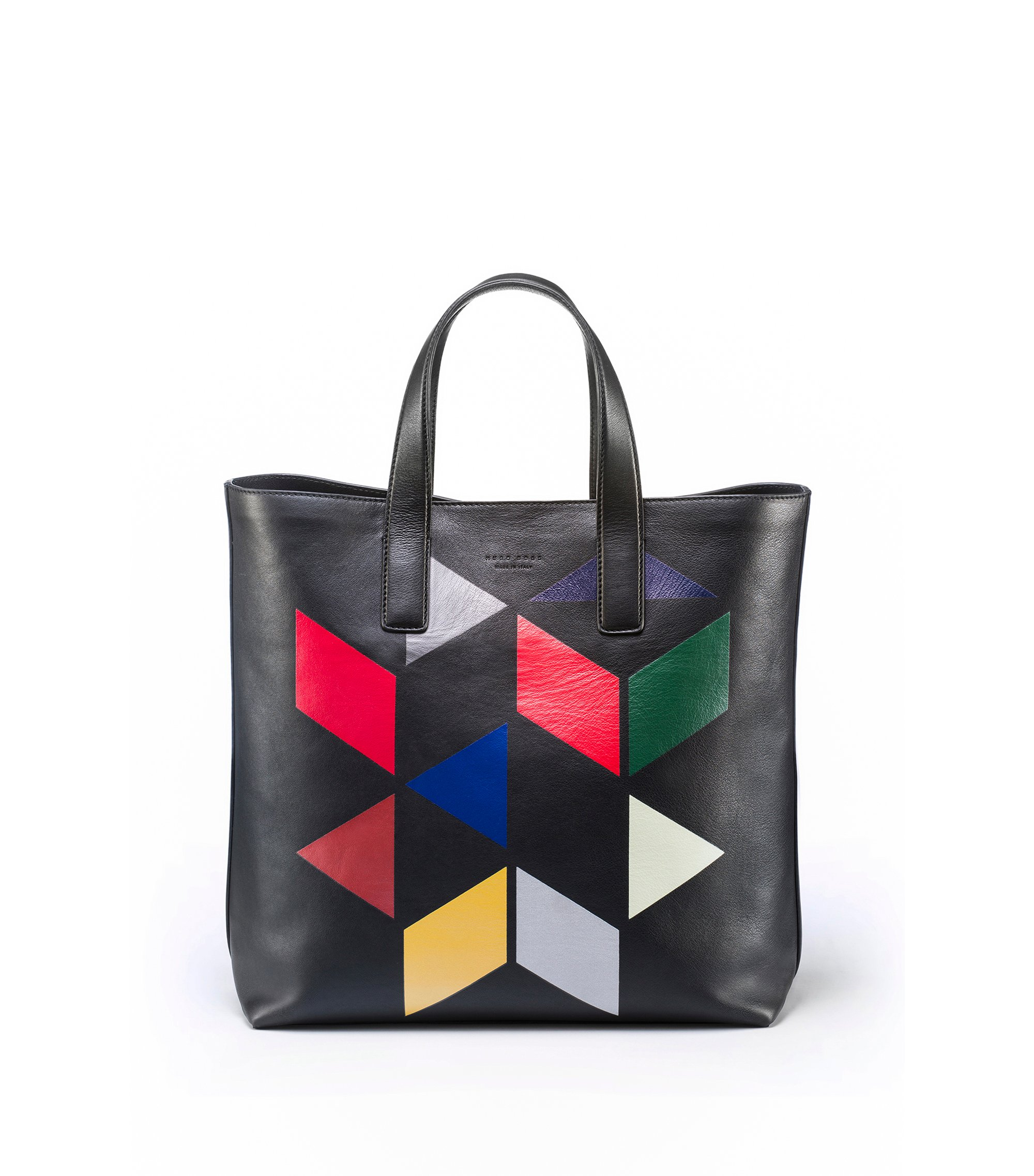 Borsa in pelle stampata An Eames Celebration, Nero