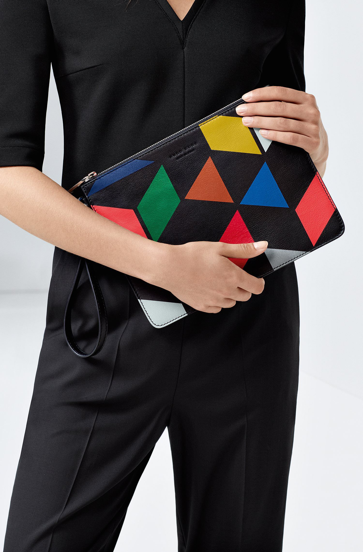 An Eames Celebration printed leather pouch