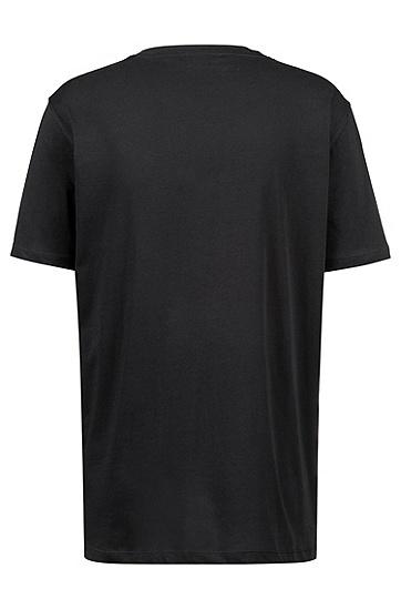 饰以大号logo的宽松版棉质T恤,  001_黑色