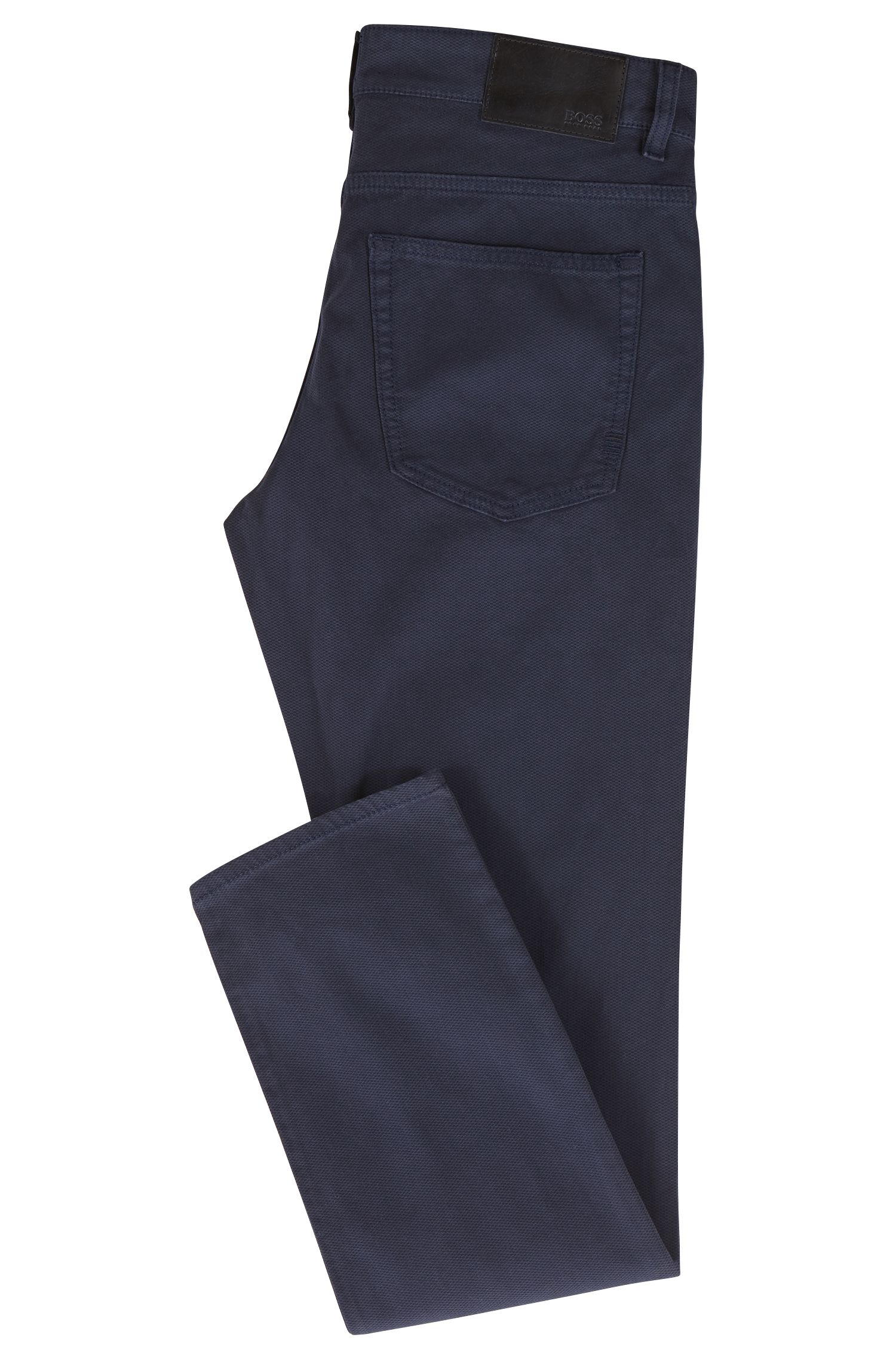 Slim-fit jeans van dobbygeweven stretchdenim met microstructuur