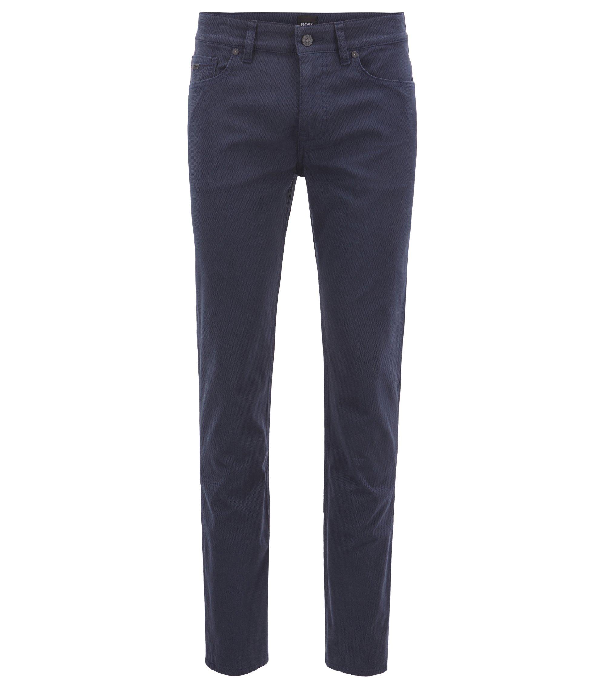 Slim-Fit Jeans aus Stretch-Denim mit Mikro-Struktur, Dunkelblau