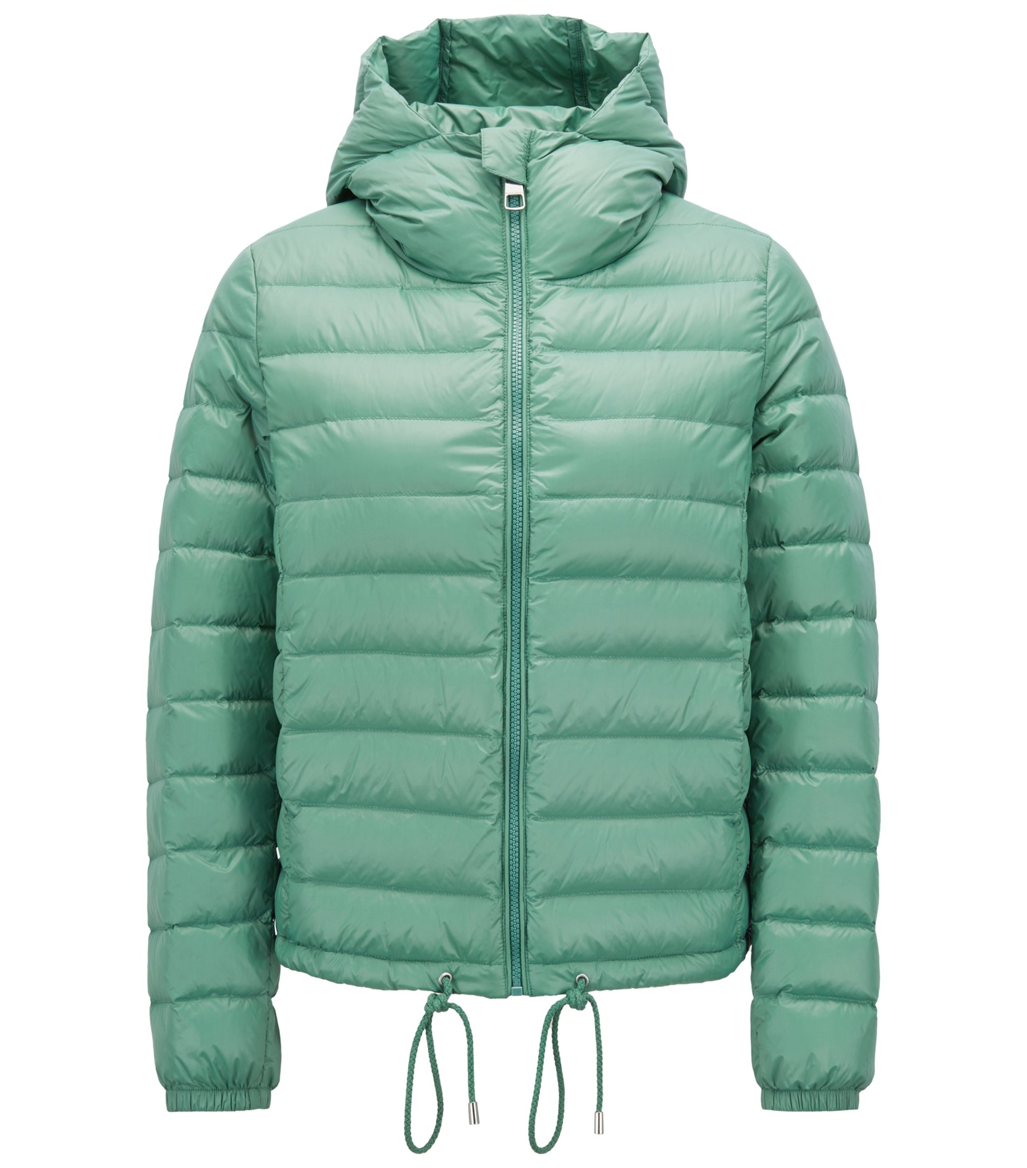 Lightweight down-filled jacket with water-repellent outer, Light Green