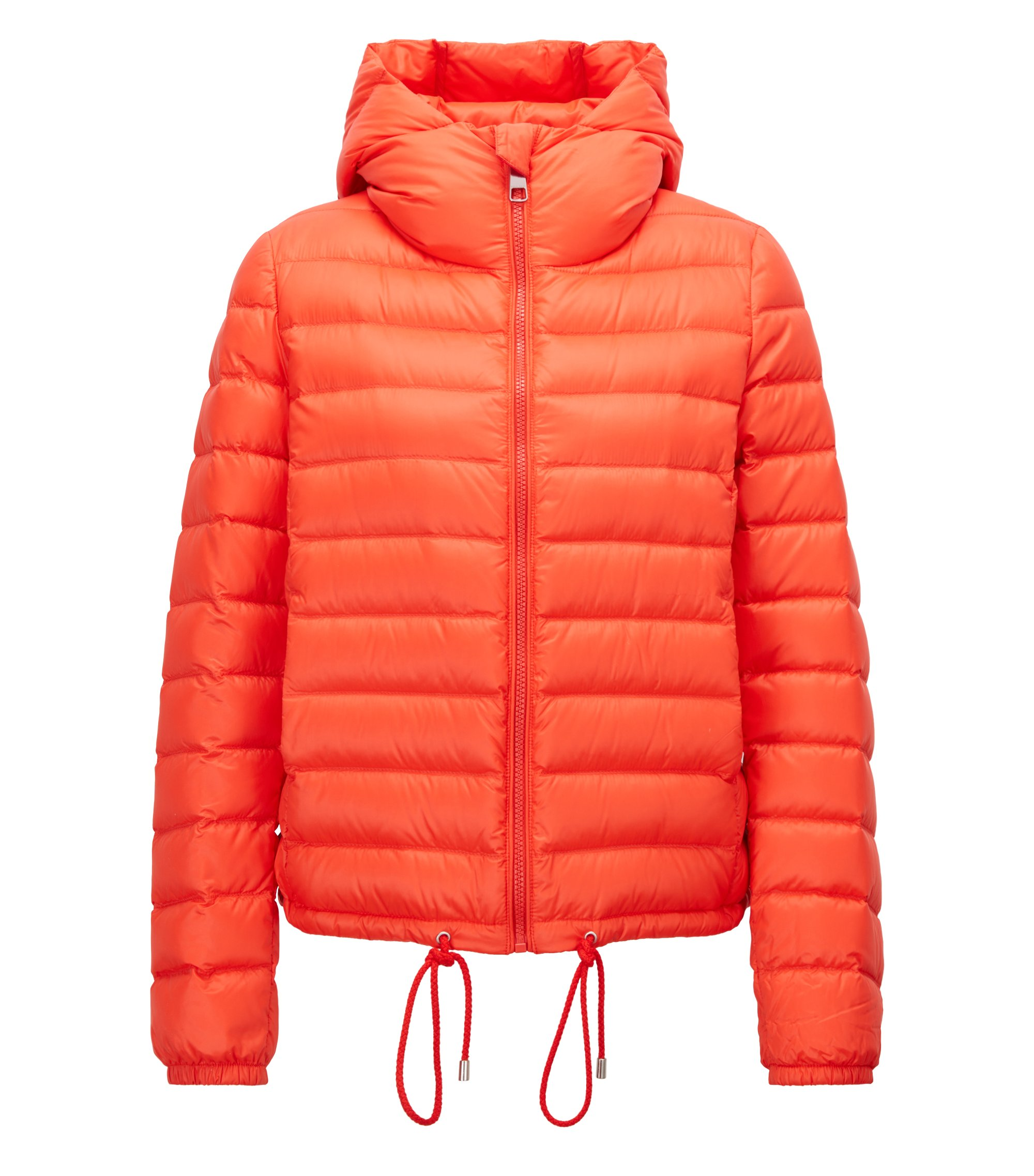 Lightweight down-filled jacket with water-repellent outer, Red