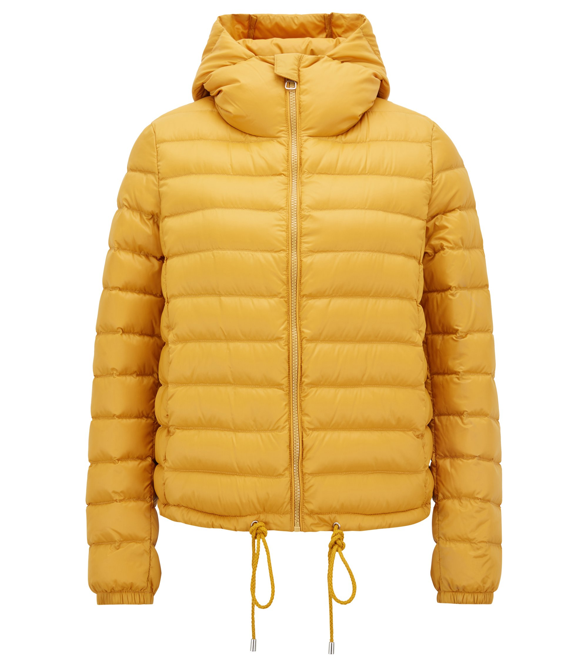 Lightweight down-filled jacket with water-repellent outer, Gold