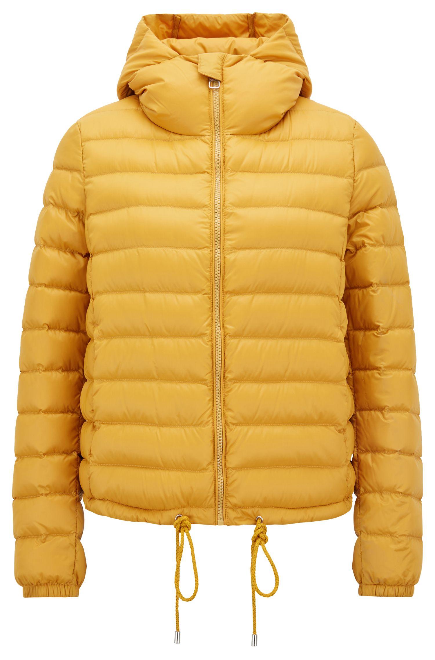 Lichte jas met donsvulling en waterafstotende buitenkant, goud