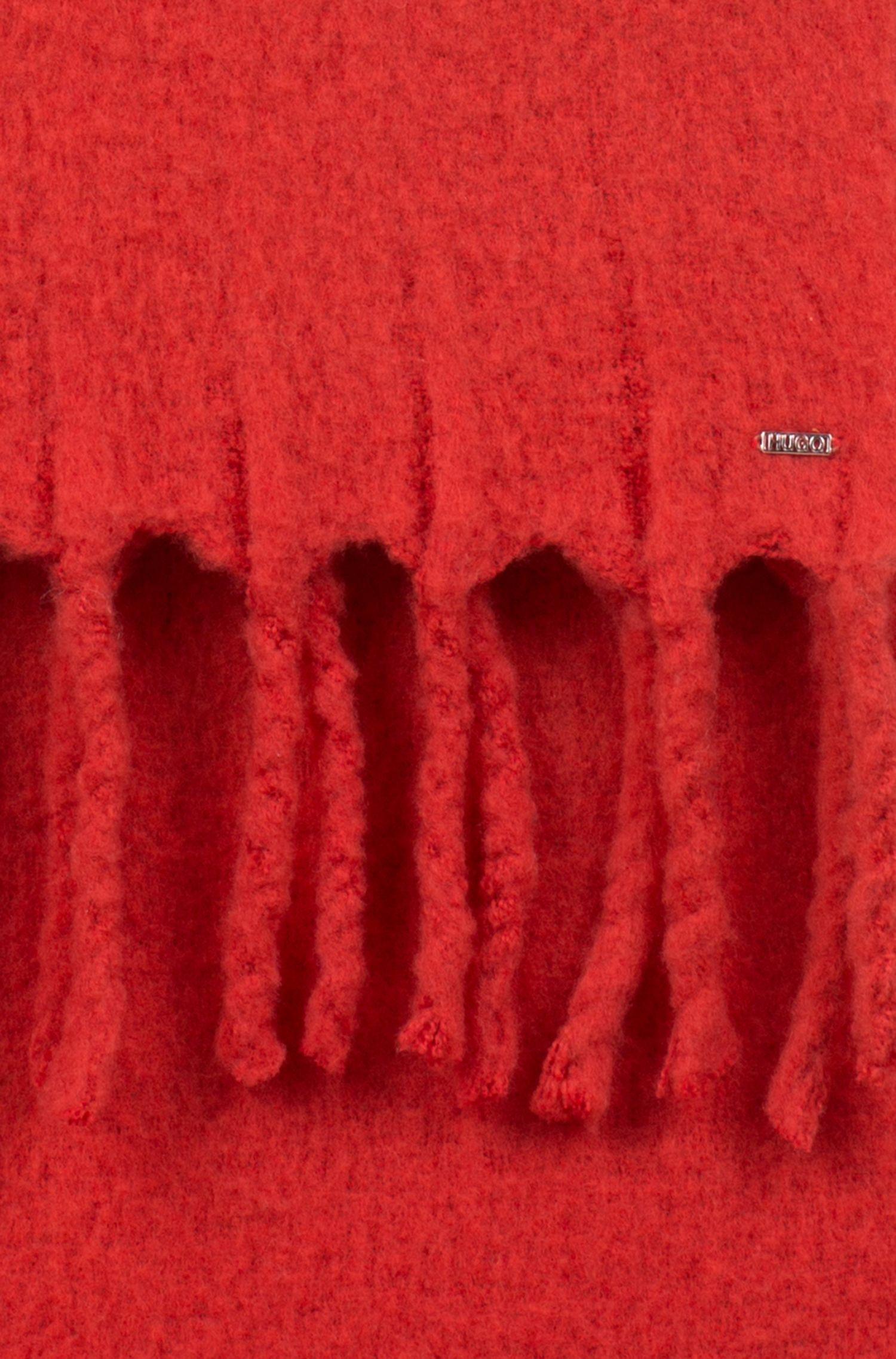 Écharpe en laine mélangée à grosses franges