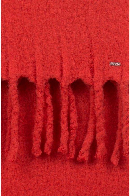 Hugo Boss - Bufanda en mezcla de lana con flecos gruesos en los bordes - 3
