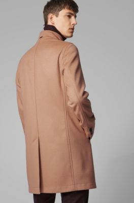 95d44c210 Slim-fit coat in virgin wool and cashmere