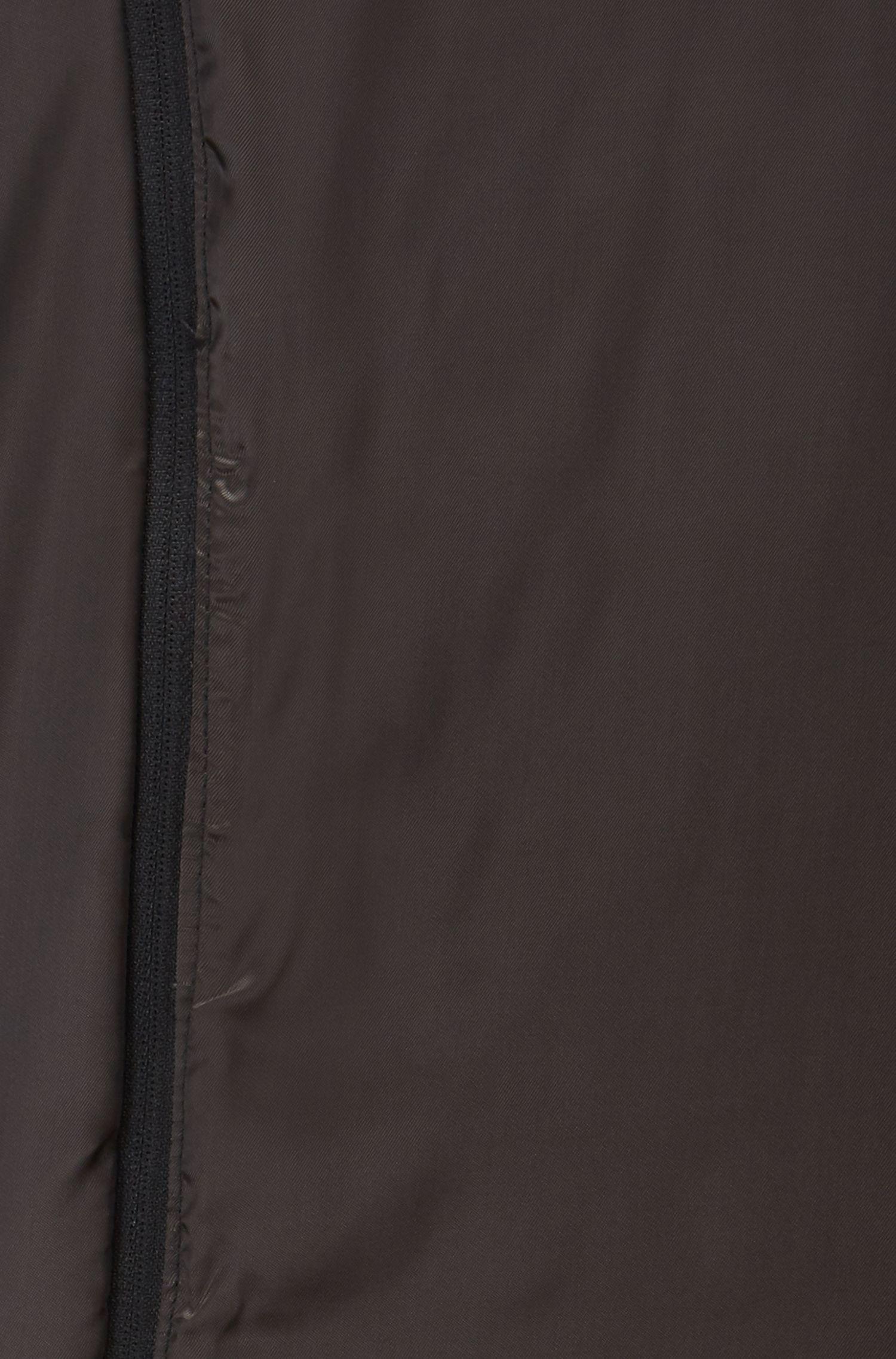 Abrigo slim fit en mezcla de lana con peto interior desmontable, Gris oscuro
