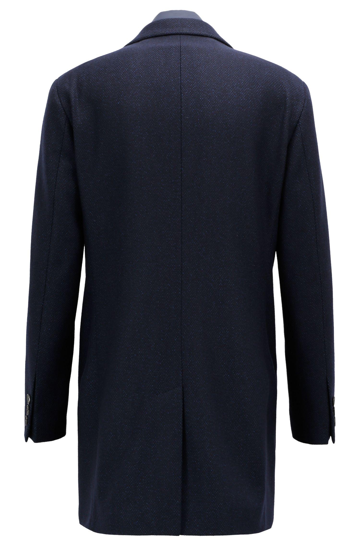 Slim-fit mantel van een wolmix met uitneembaar binnenvest