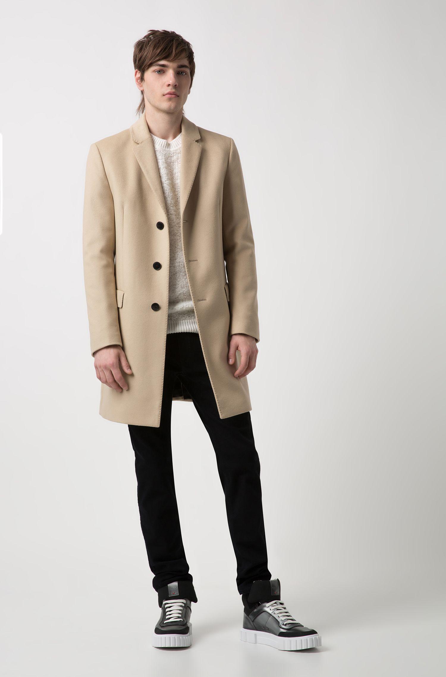 Manteau Slim Fit en mélange de laine et de cachemire