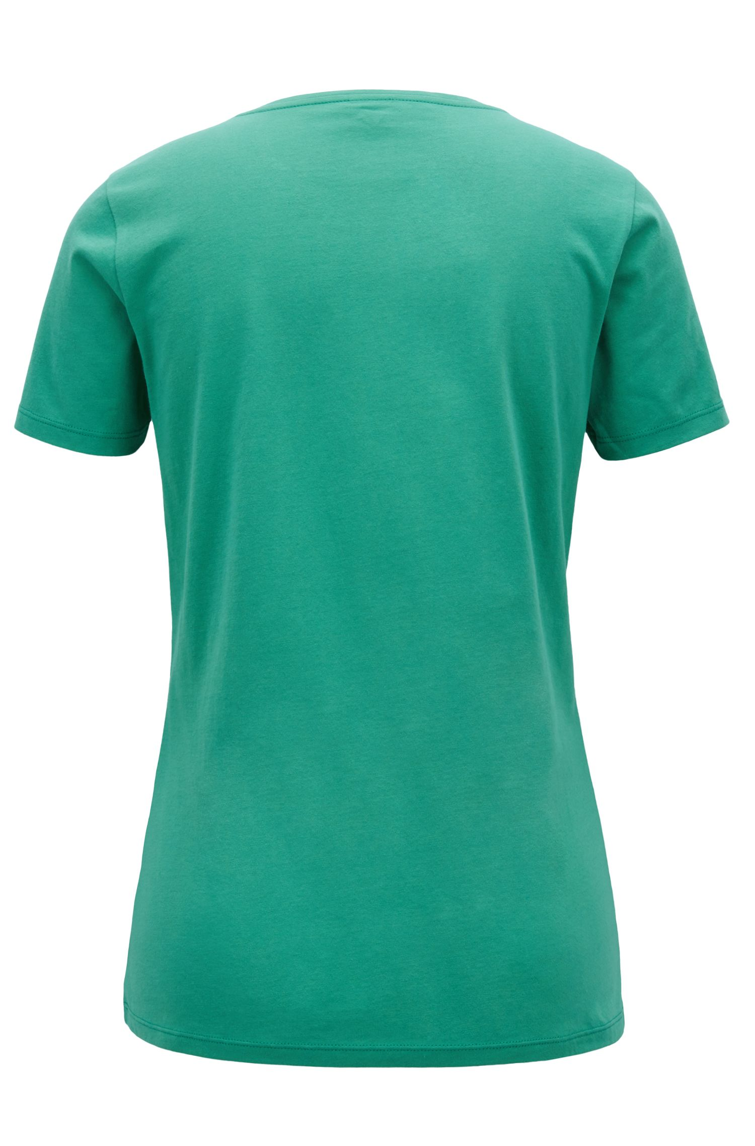 Slim-fit T-shirt with heart-themed logo print, Green
