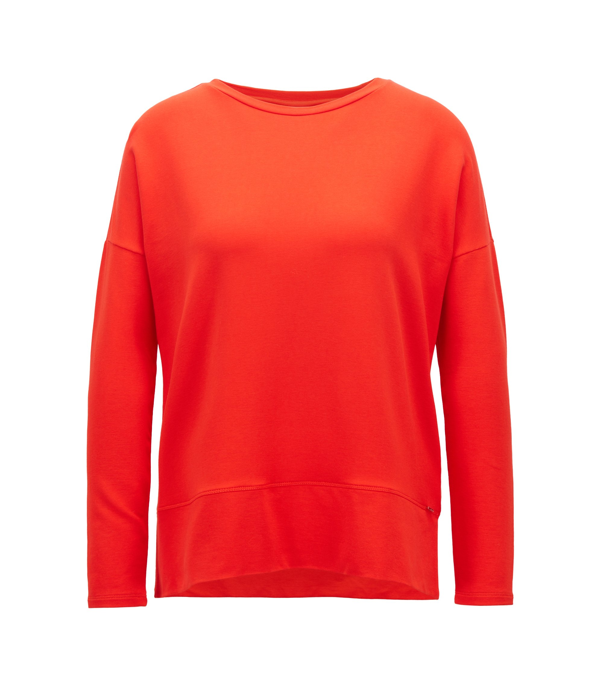 Relaxed-Fit Top aus leichtem Stretch-Terry, Rot