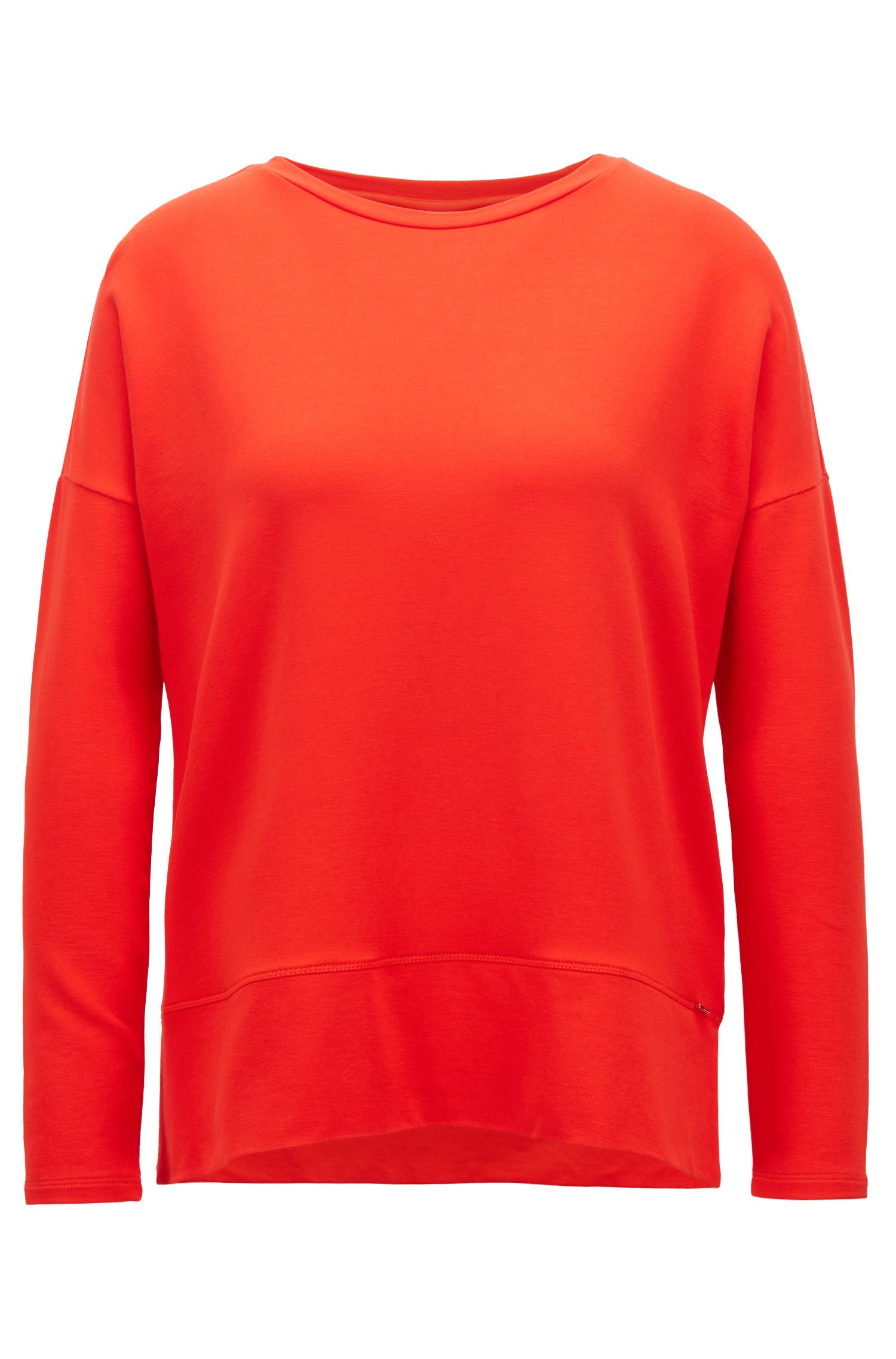 Boxy-fit top in lightweight stretch terry, Red