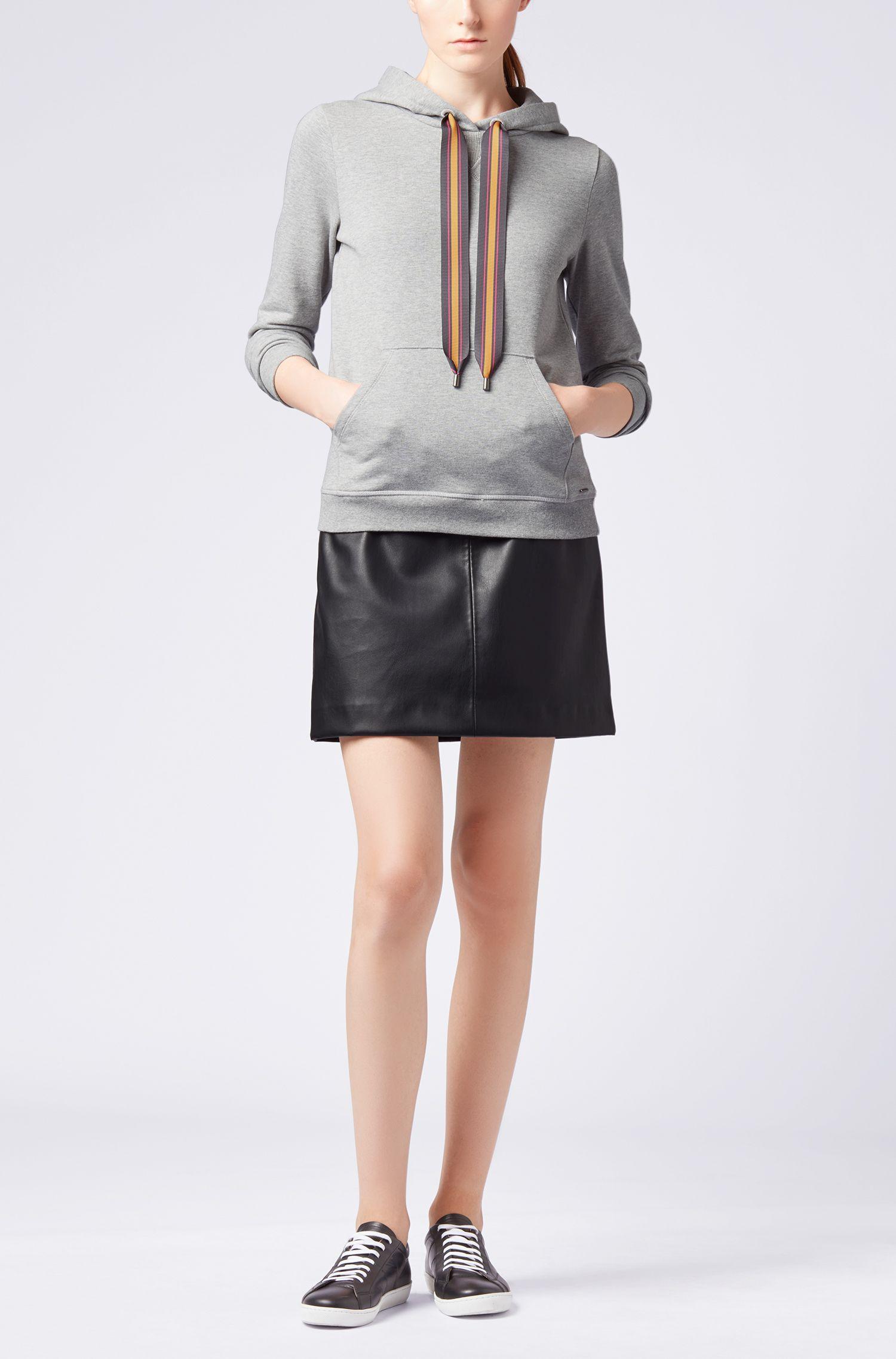 Kapuzen-Sweatshirt aus French Terry mit bedrucktem Kordelzug