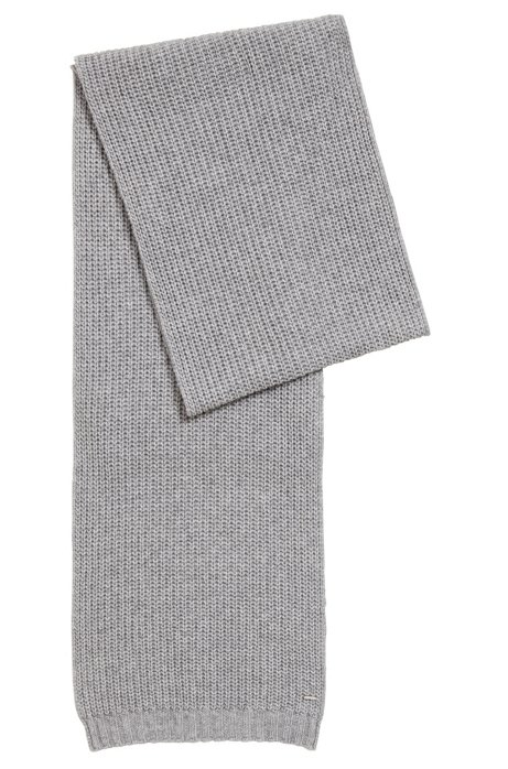 BOSS - Chunky-knit scarf in a blended yarn with cashmere f775667bd87d