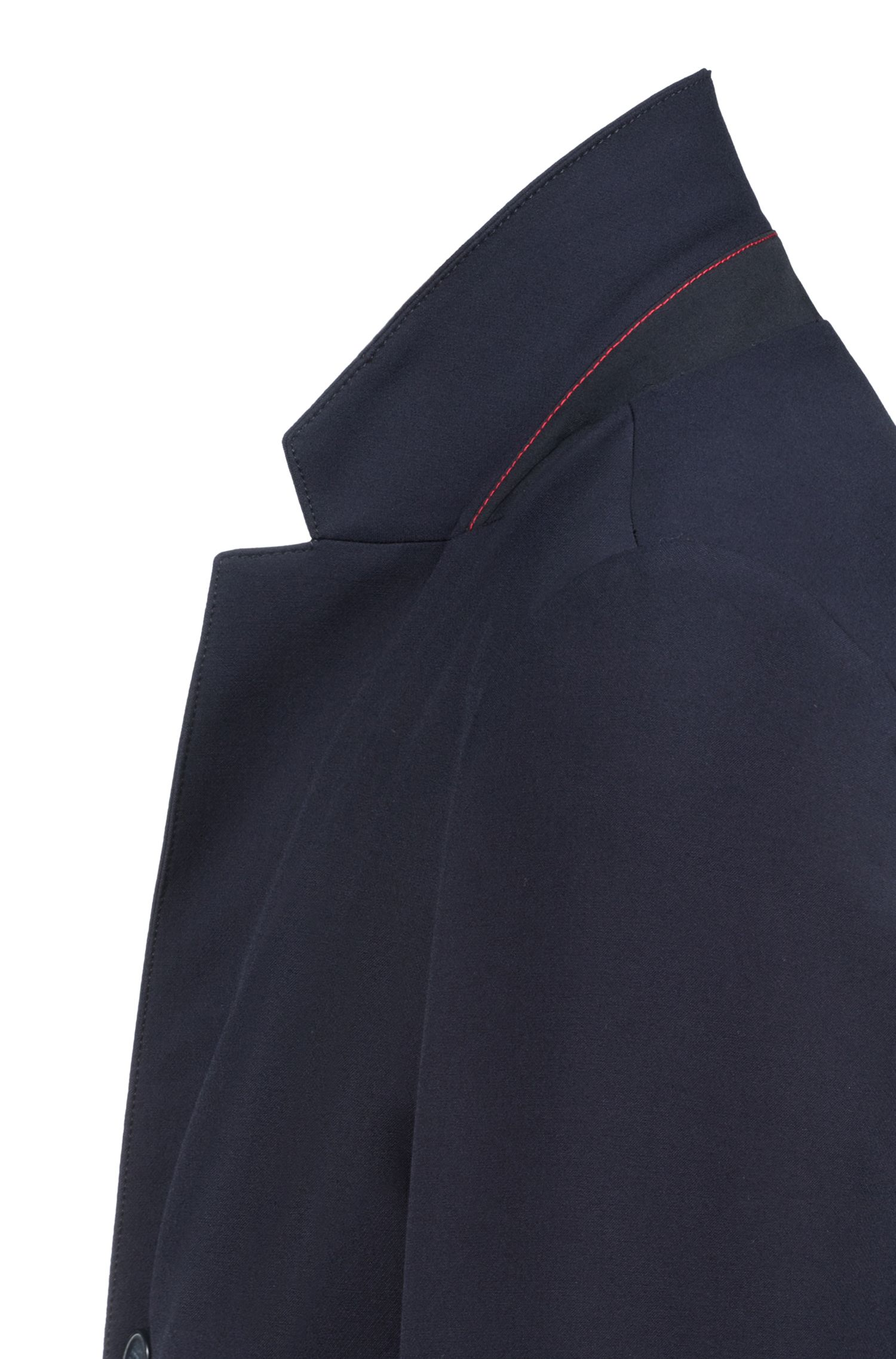 Manteau Slim Fit en tissu stretch à revers crantés