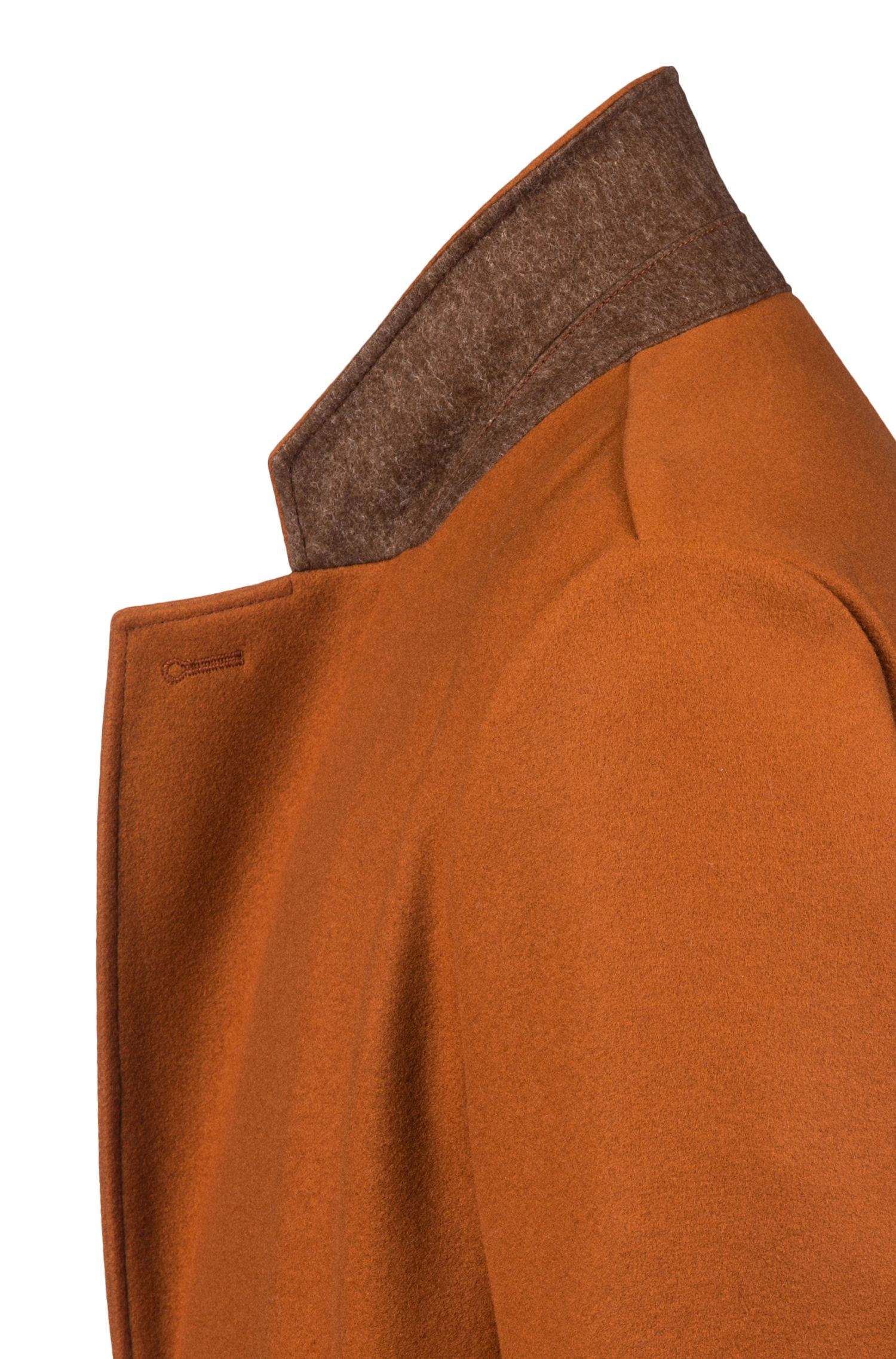 Relaxed-fit coat in a virgin-wool blend, Brown