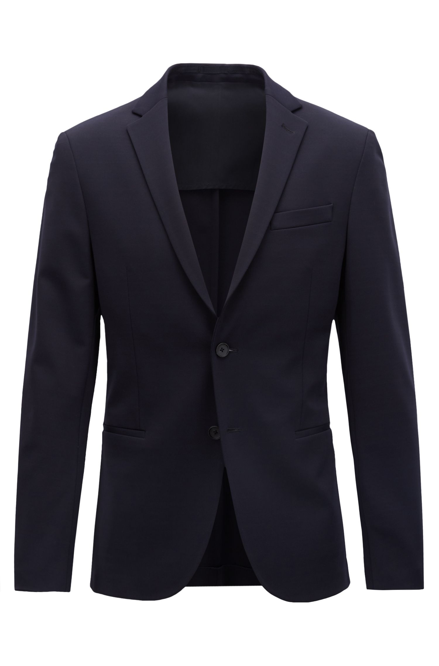 Slim-fit blazer in technical fabric with stretch lining