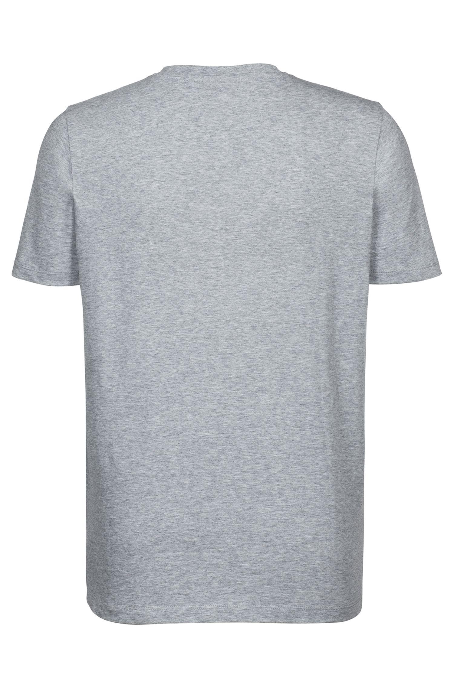 T-shirt à logo en jersey de coton simple, Gris