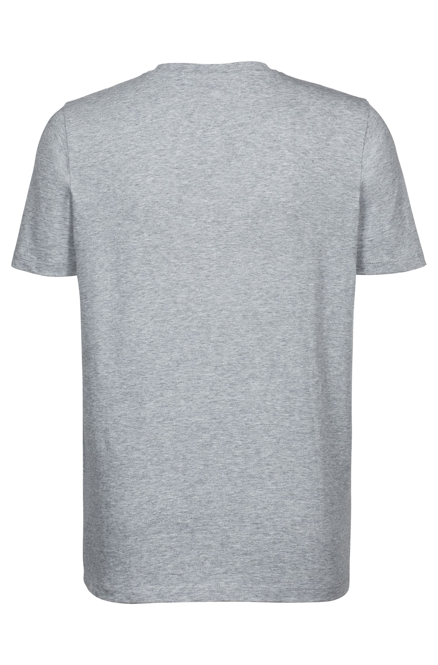 Camiseta con logo en algodón de punto sencillo, Gris
