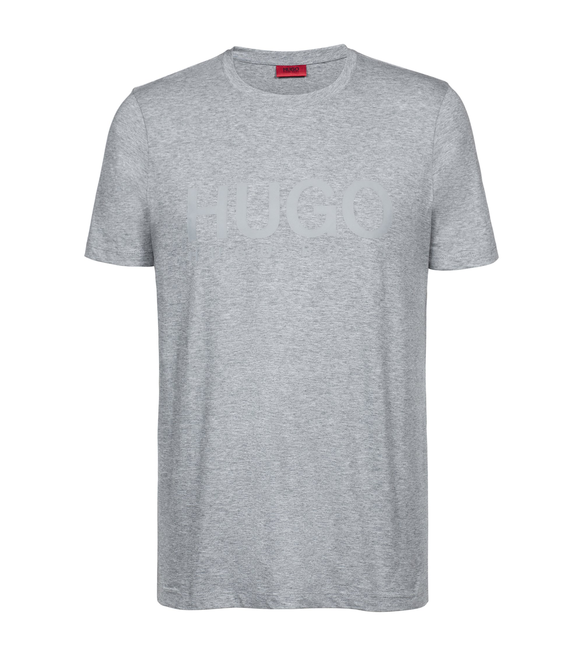 T-Shirt aus Single Jersey mit Logo, Grau