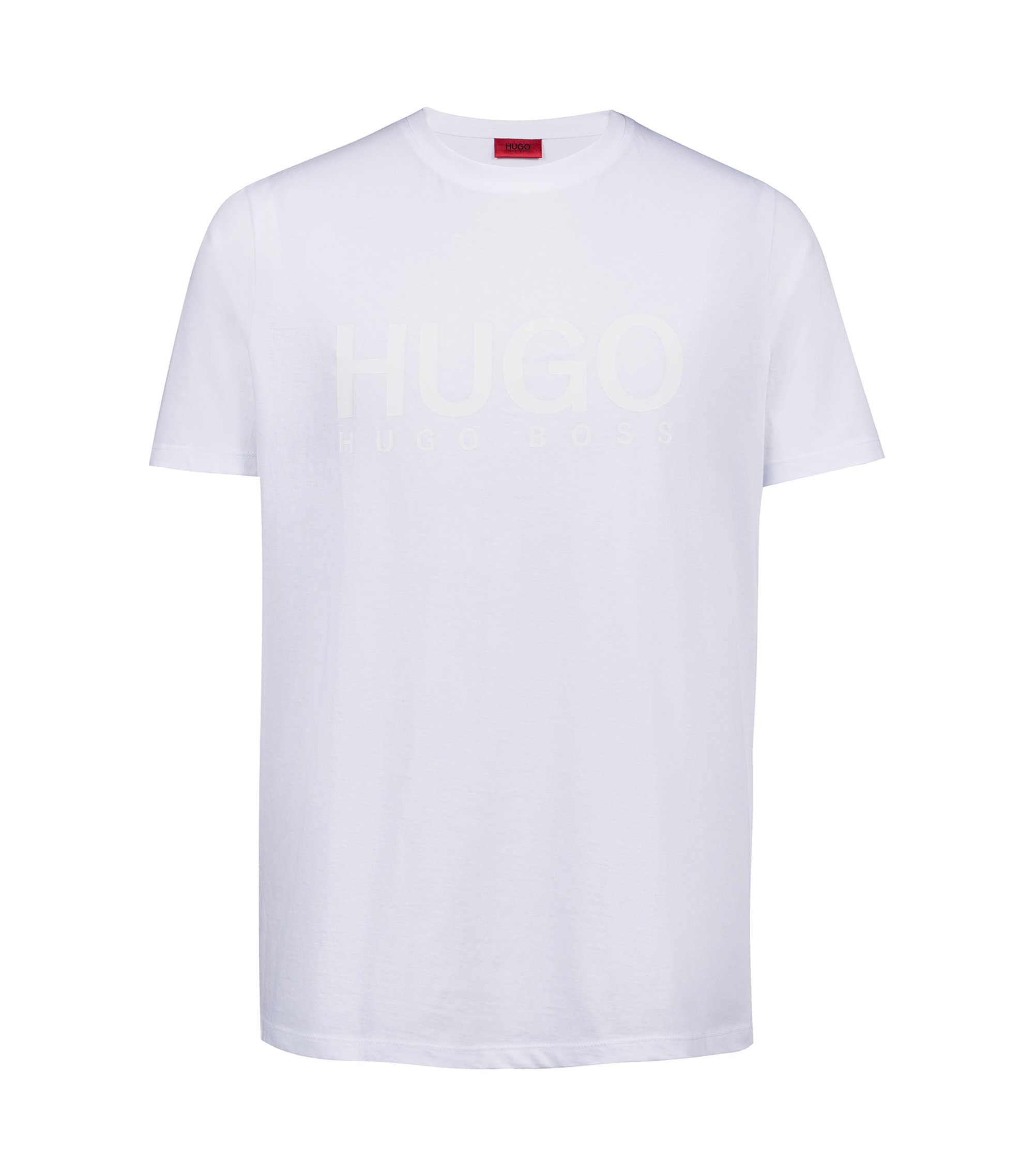 Logo T-shirt in single jersey cotton, White